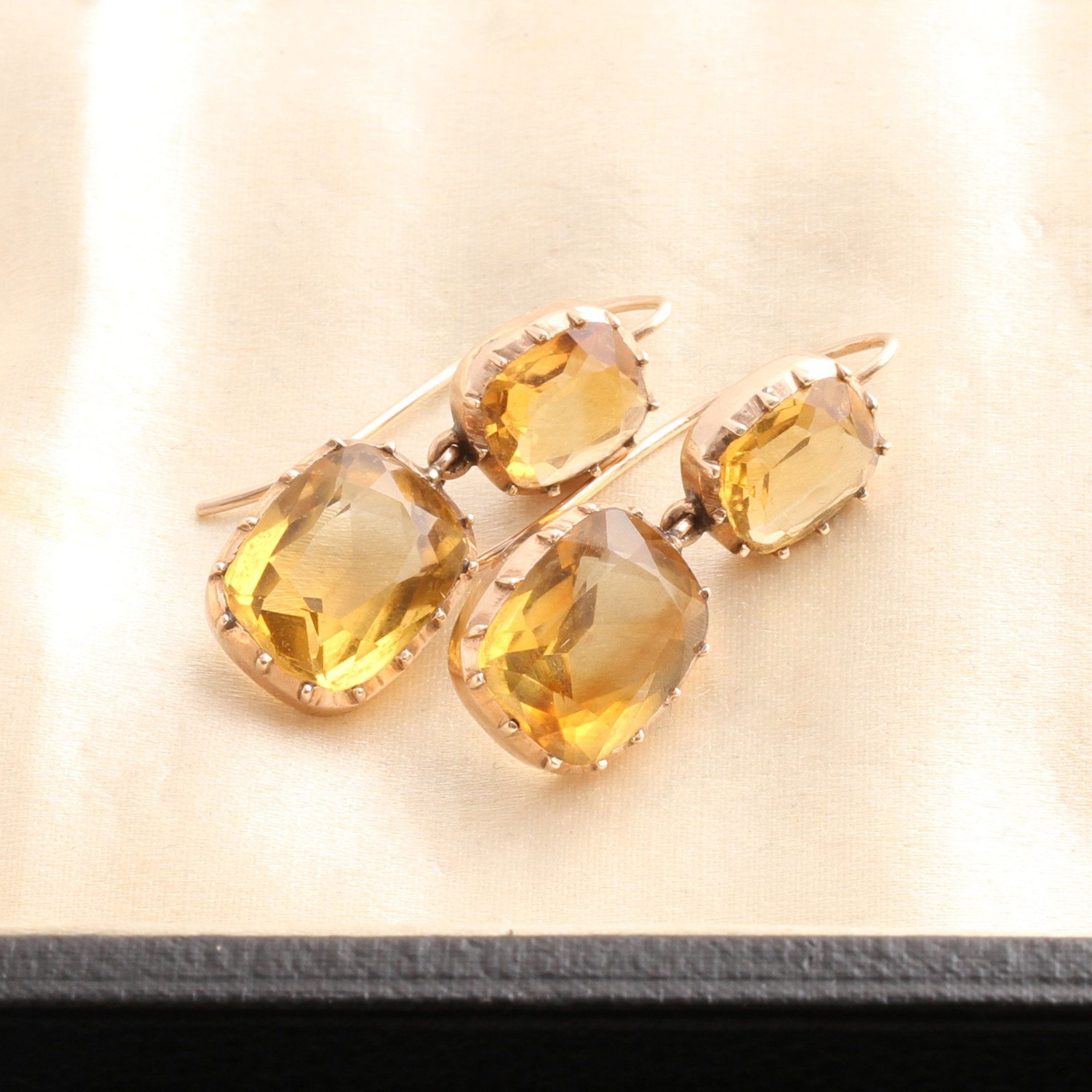 Early Victorian Citrine Earrings