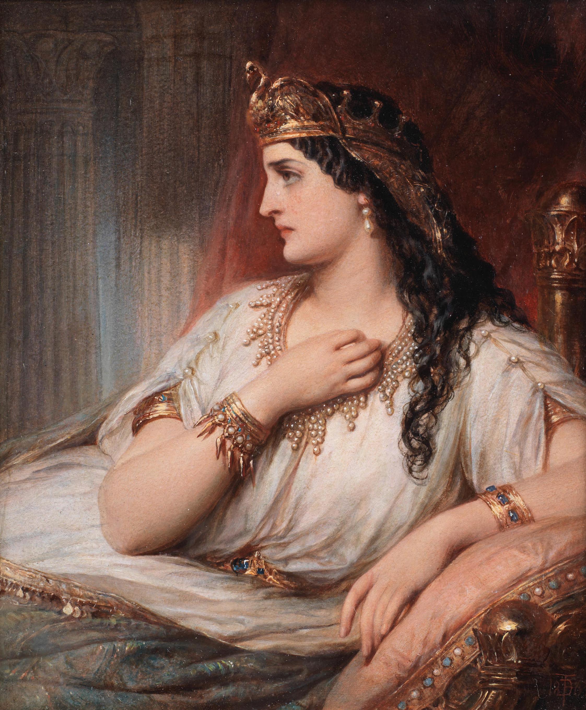 Cleopatra, Thomas Francis Dicksee, 1863 (sold at Bonhams, September 2019 for £ 17,562).