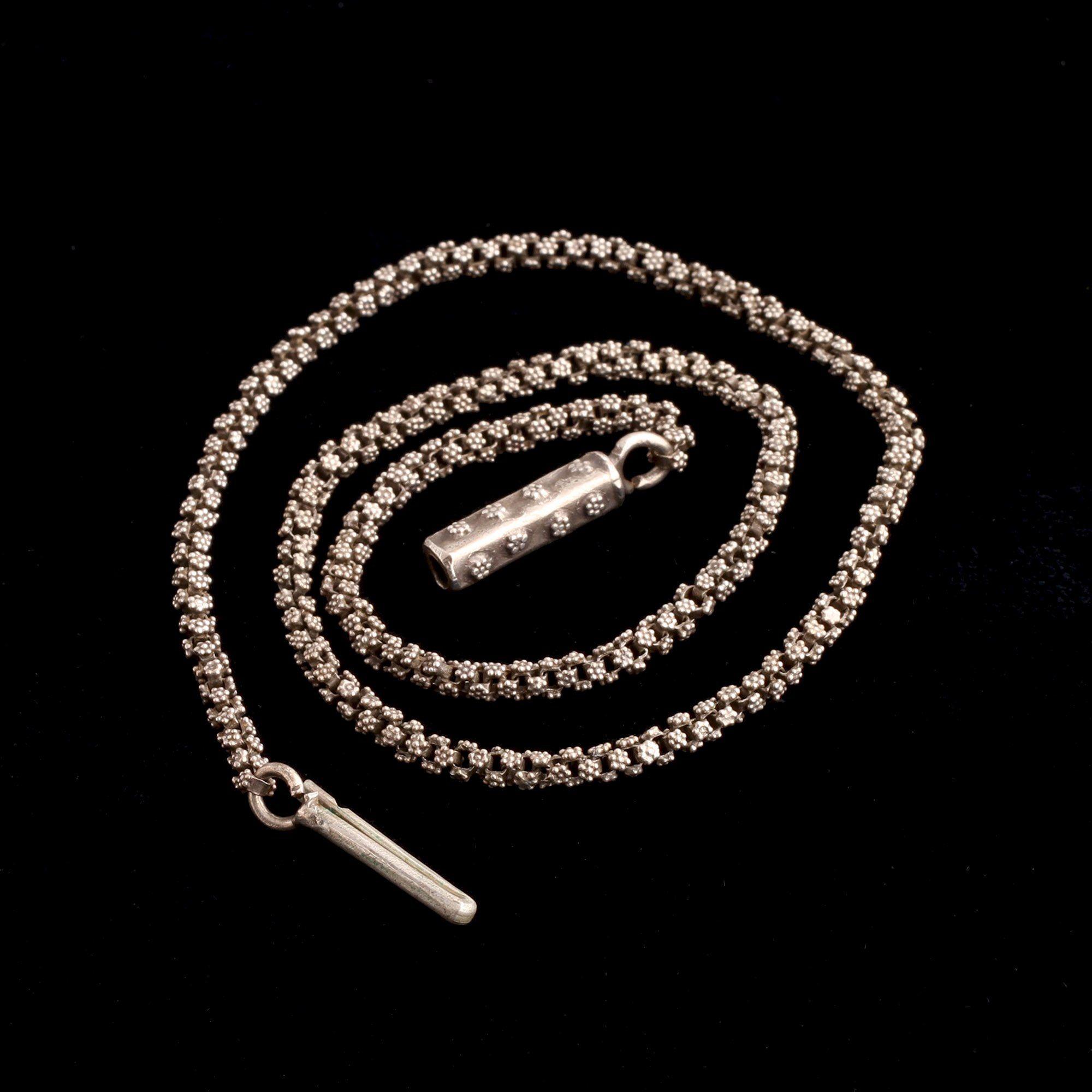 Georgian Floral Silver Chain