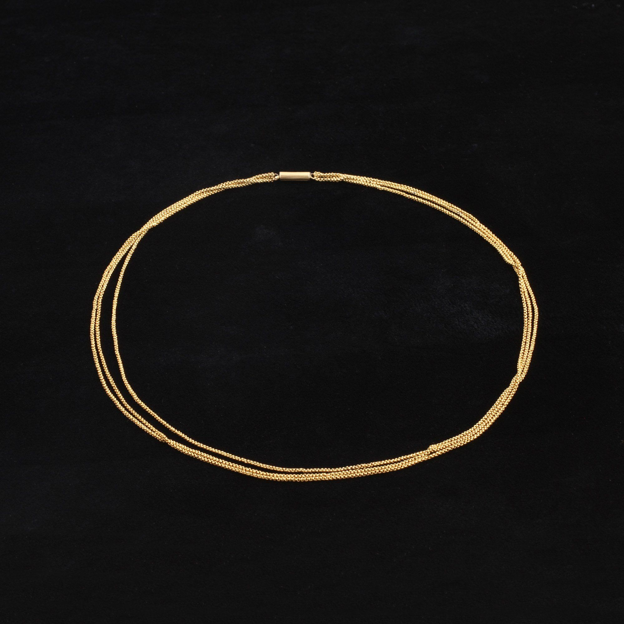 Georgian Triple Strand Necklace