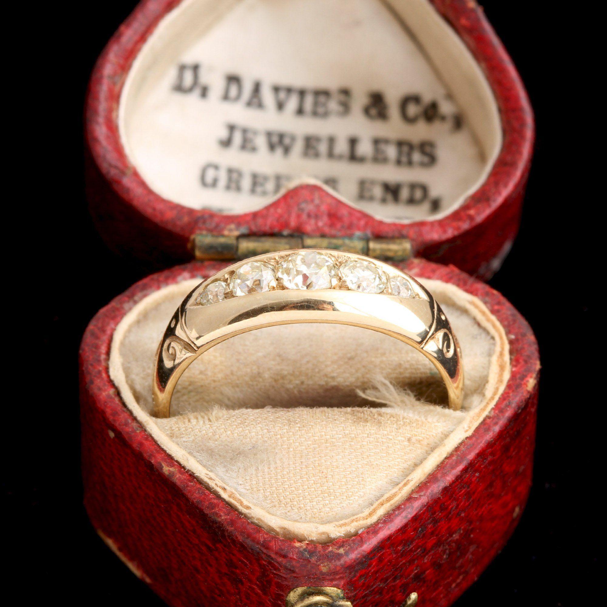 Victorian Old European Cut Five Diamond Ring