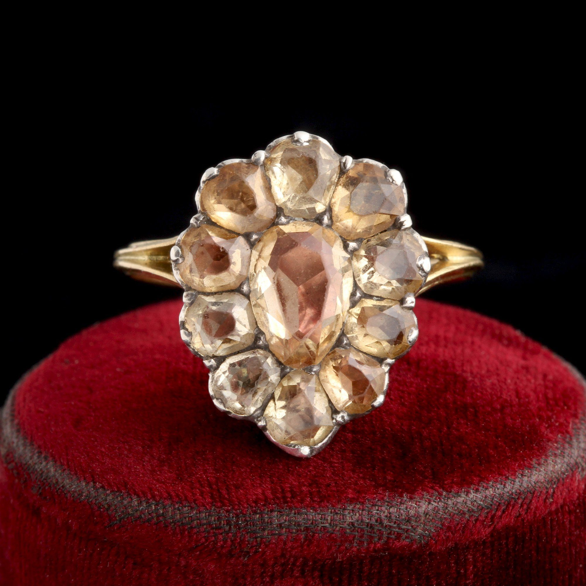 Early 19th Century Portuguese Topaz Cluster Ring