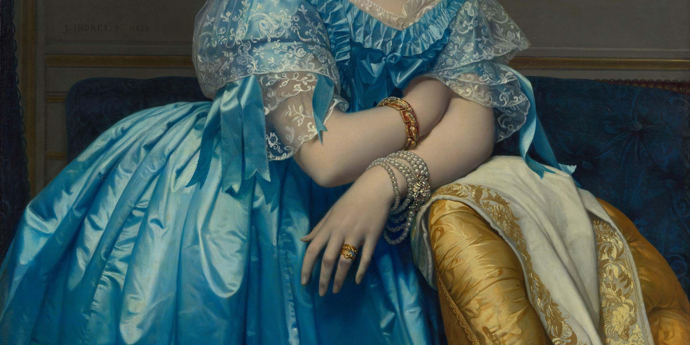 "Jean Auguste Dominique Ingres, ""Princesse de Broglie,"" 1851-3."