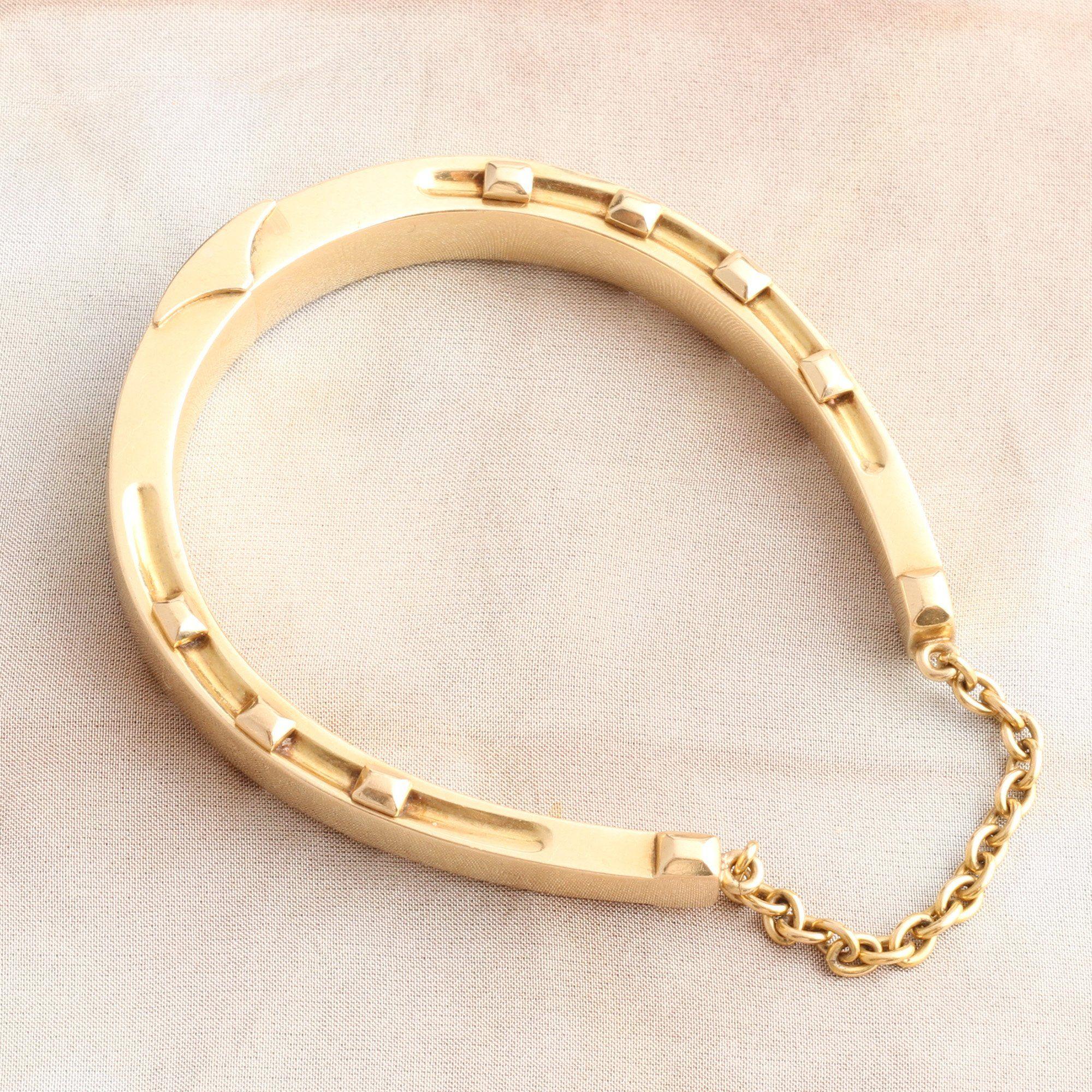 Victorian Gold Horseshoe Bangle