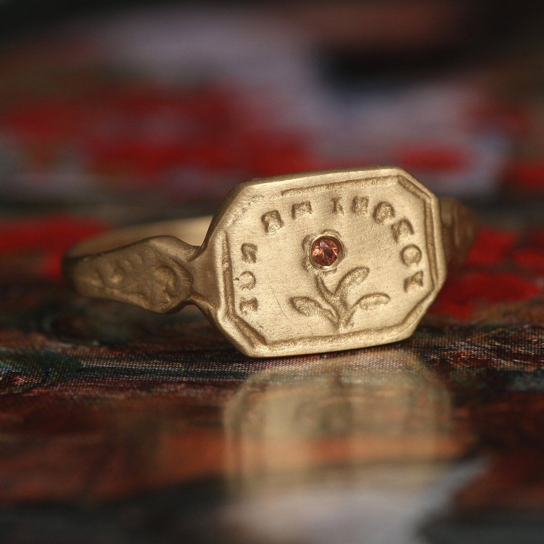 """""""Forget Me Not"""" Wax Seal Ring"""
