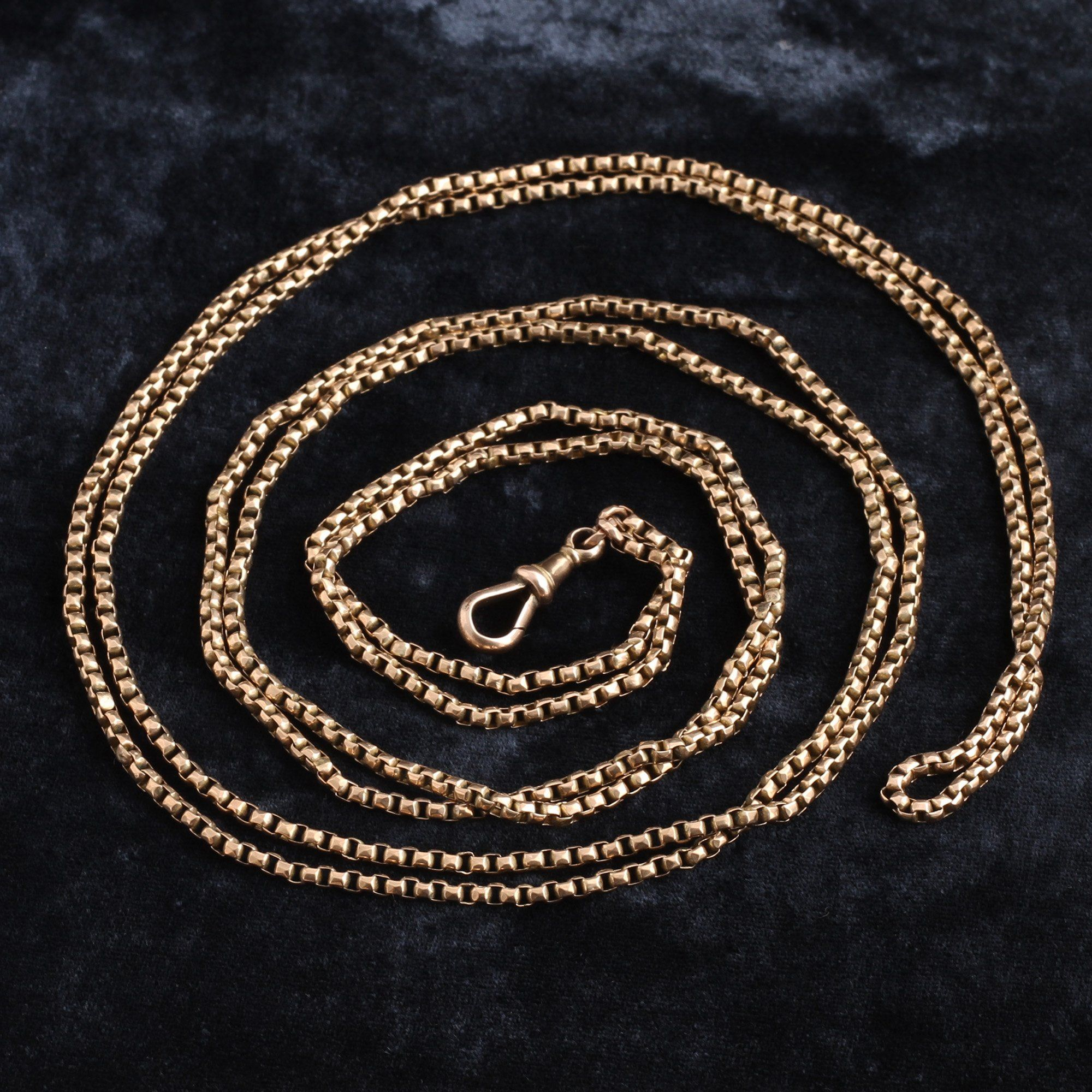 Detail of Victorian 9k Rose Gold Guard Chain