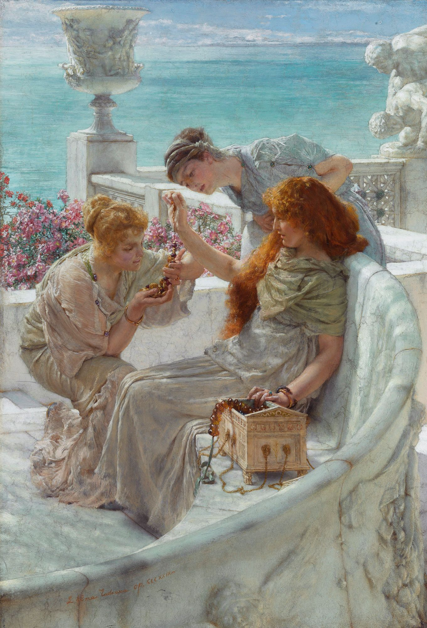 Fortune's Favorite by Lawrence Alma, 1895 (Showing off possibly amber or ambergris beads.)