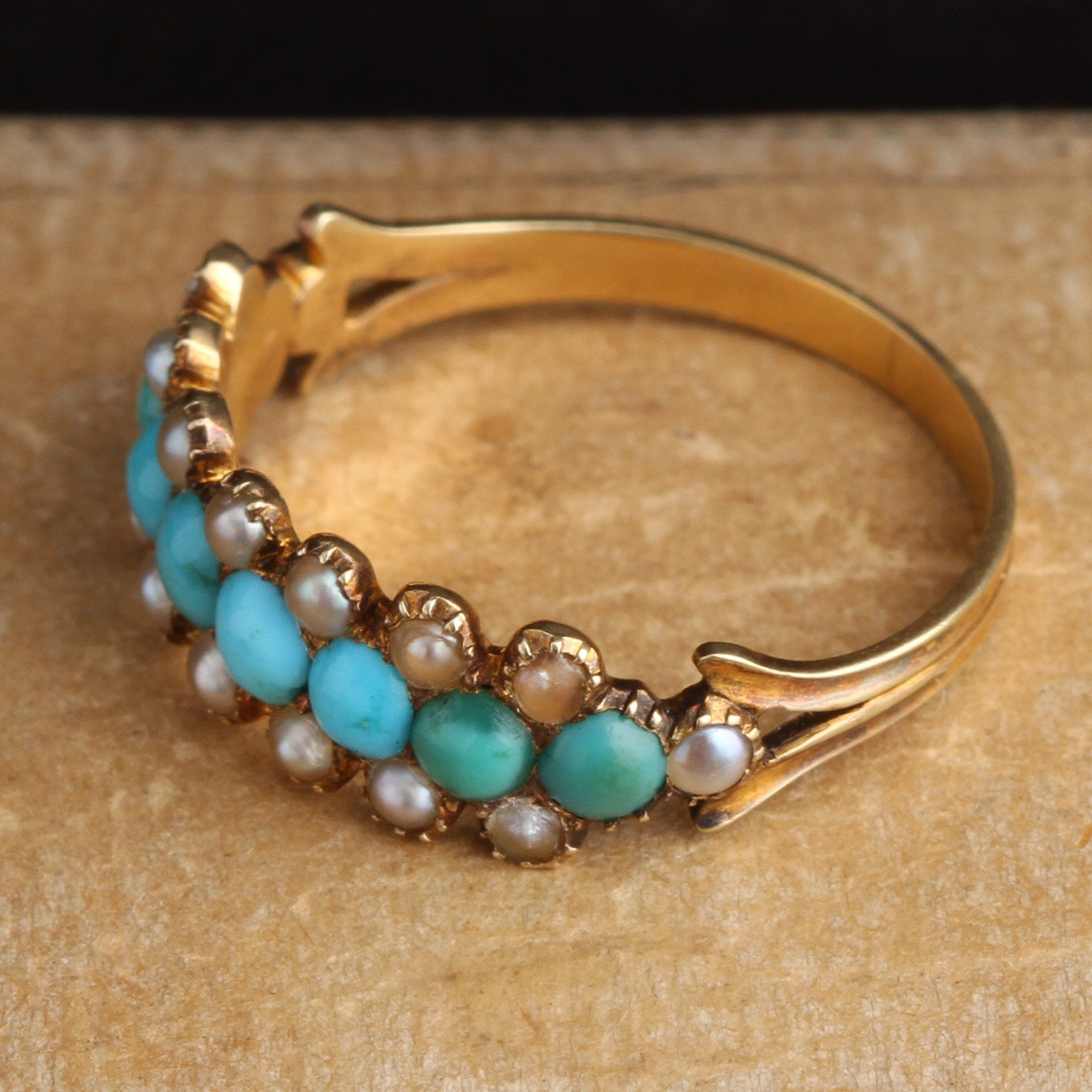 Georgian Turquoise and Pearl Band