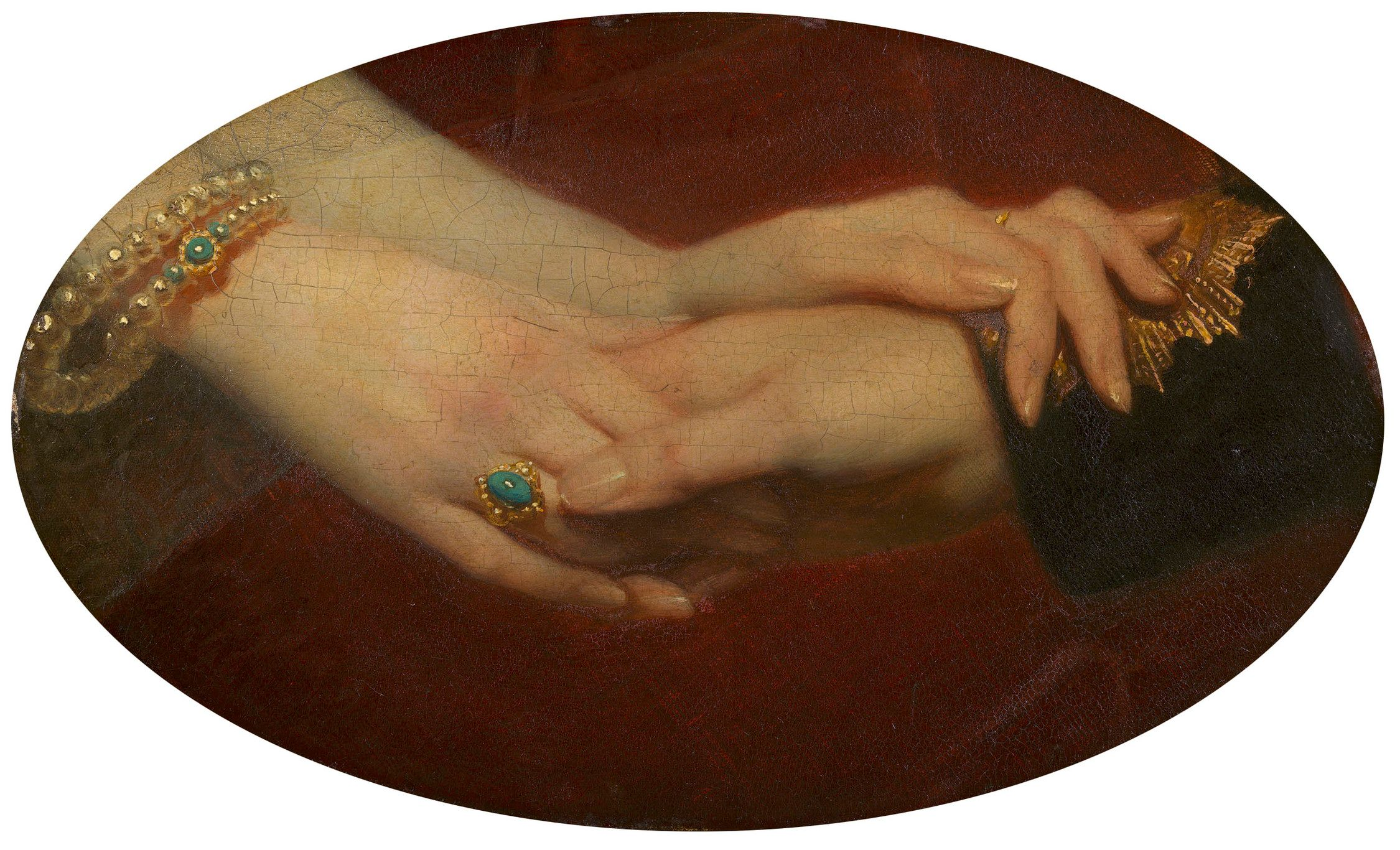 Linked hands of Victoria and Albert, Franz Xaver Winterhalter, in the Royal Collection Trust