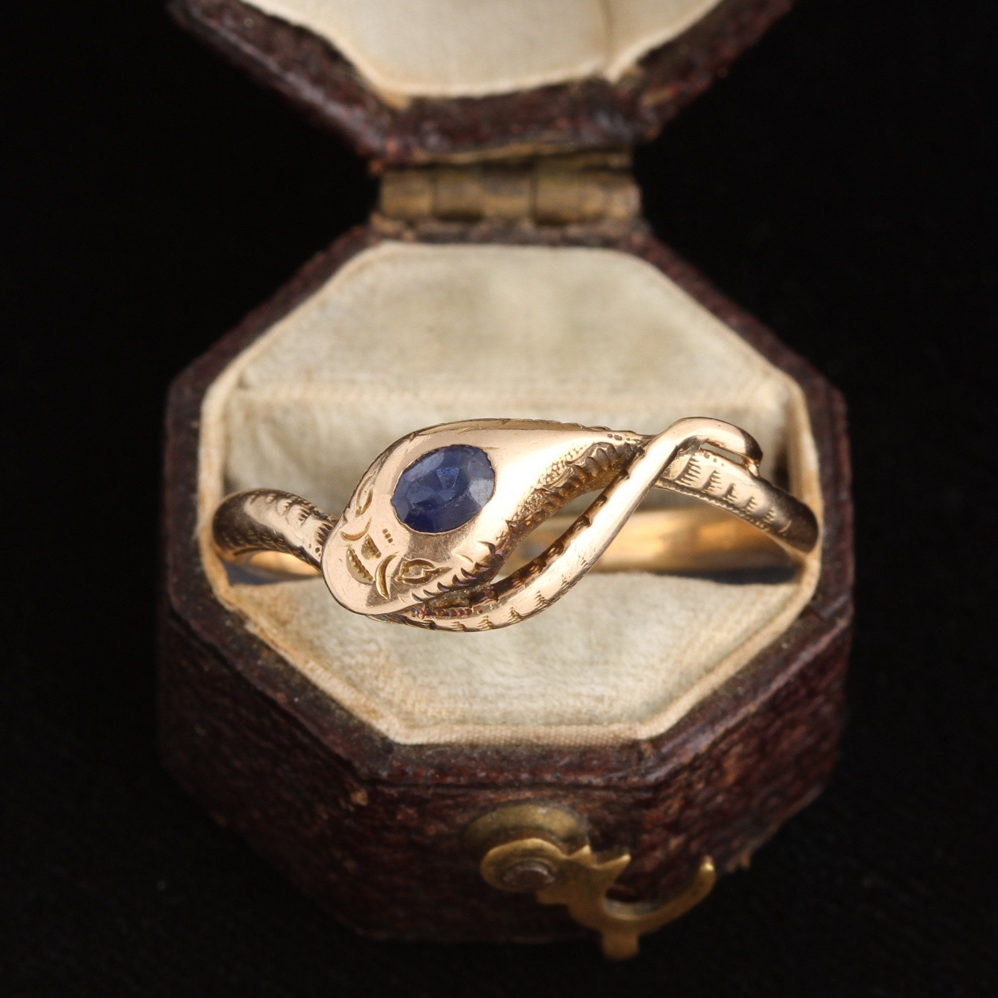 Victorian Sapphire Snake Ring