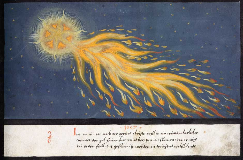 Illustration of Halley's Comet from a 16th century manuscript