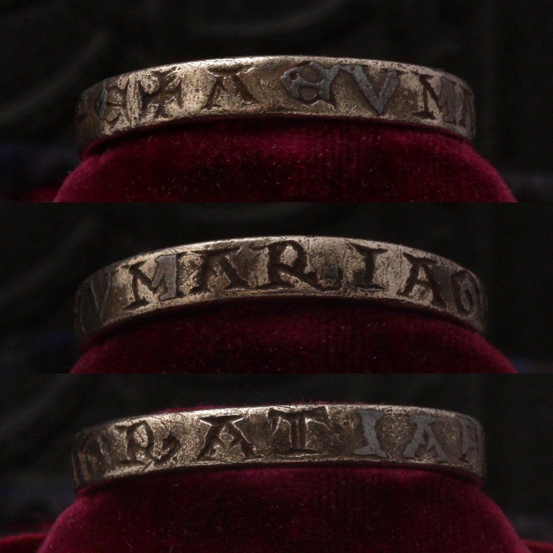 "Medieval ""Maria Gratia"" Talismanic Ring"