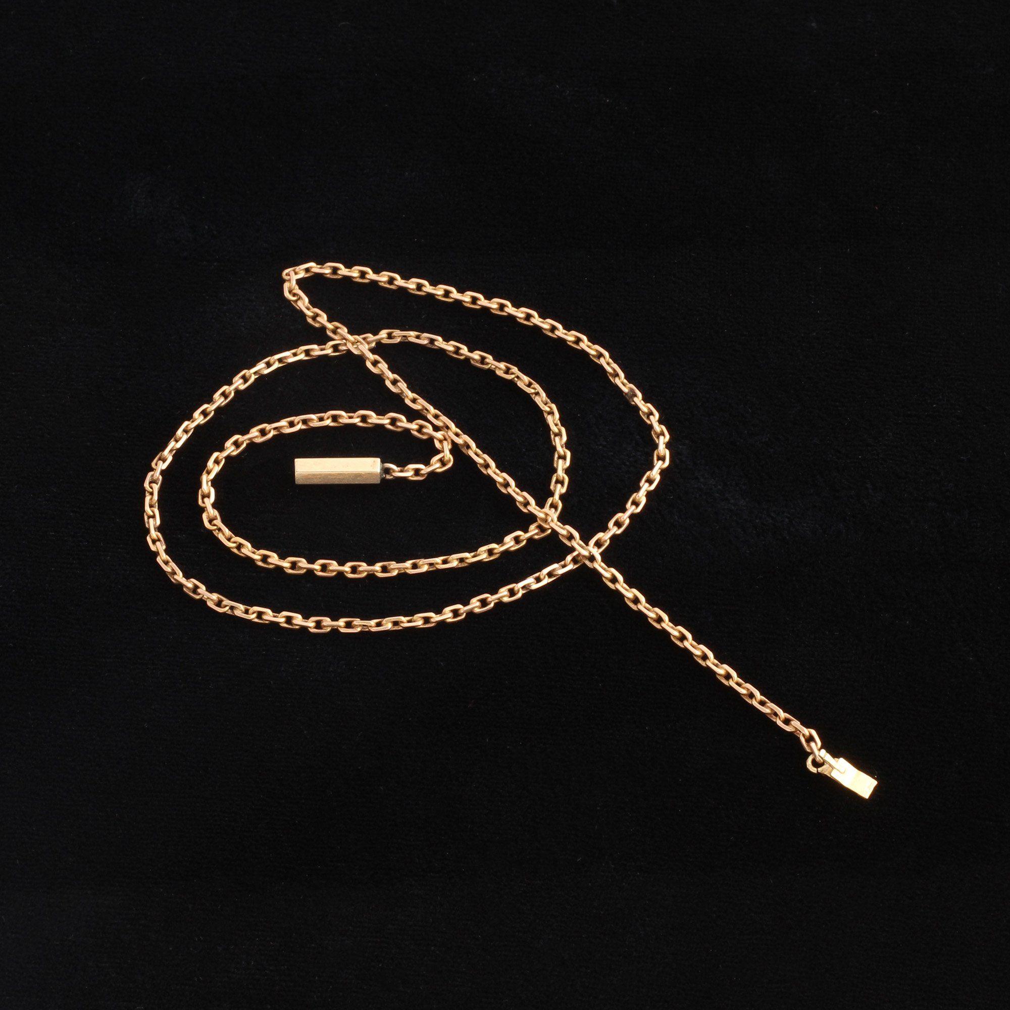 """Victorian 17"""" Square Cable Chain"""