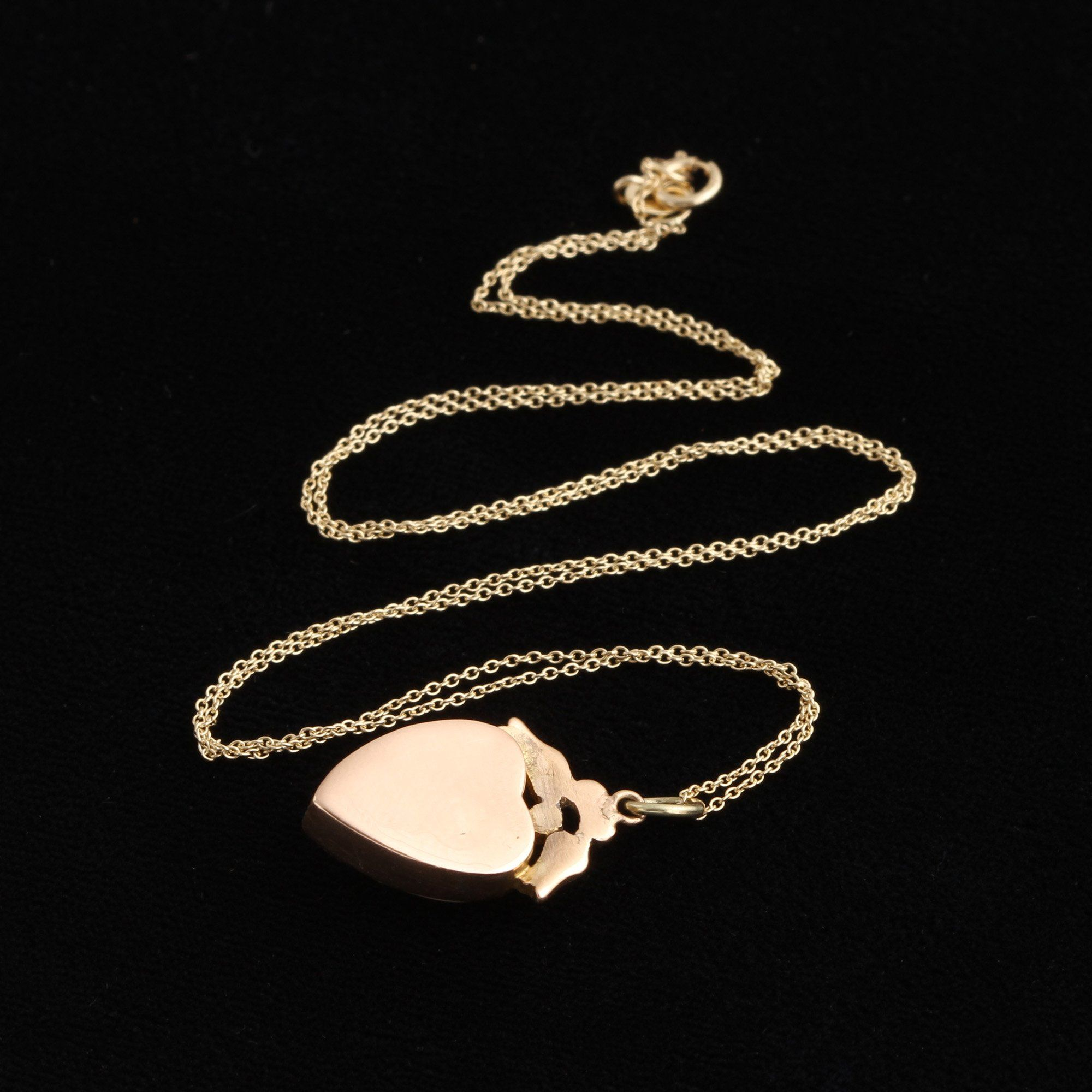 Victorian Moonstone & Pearl Heart Necklace