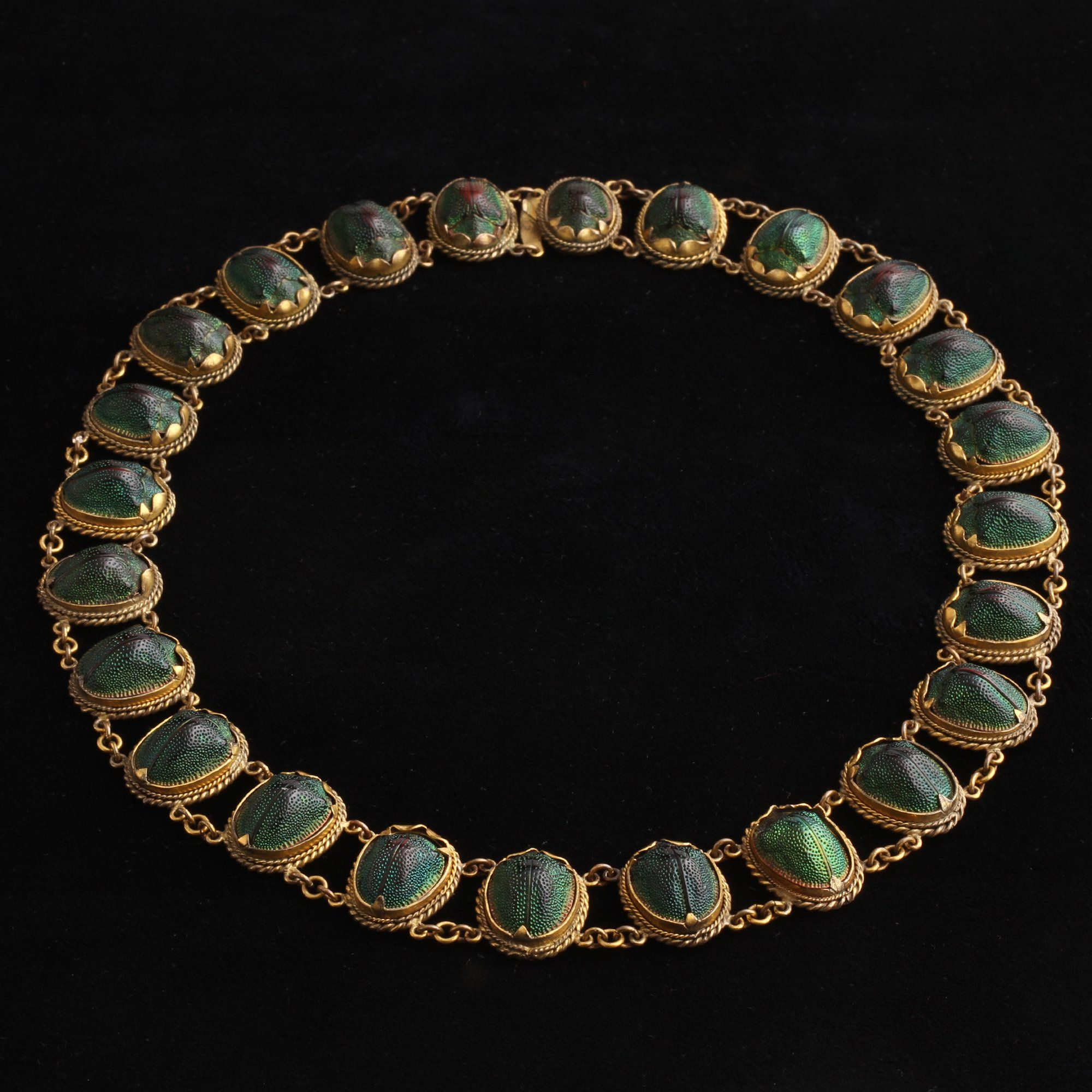 Victorian Scarab Collar