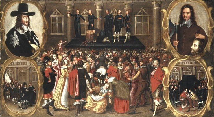 Painting of the Execution of Charles I.