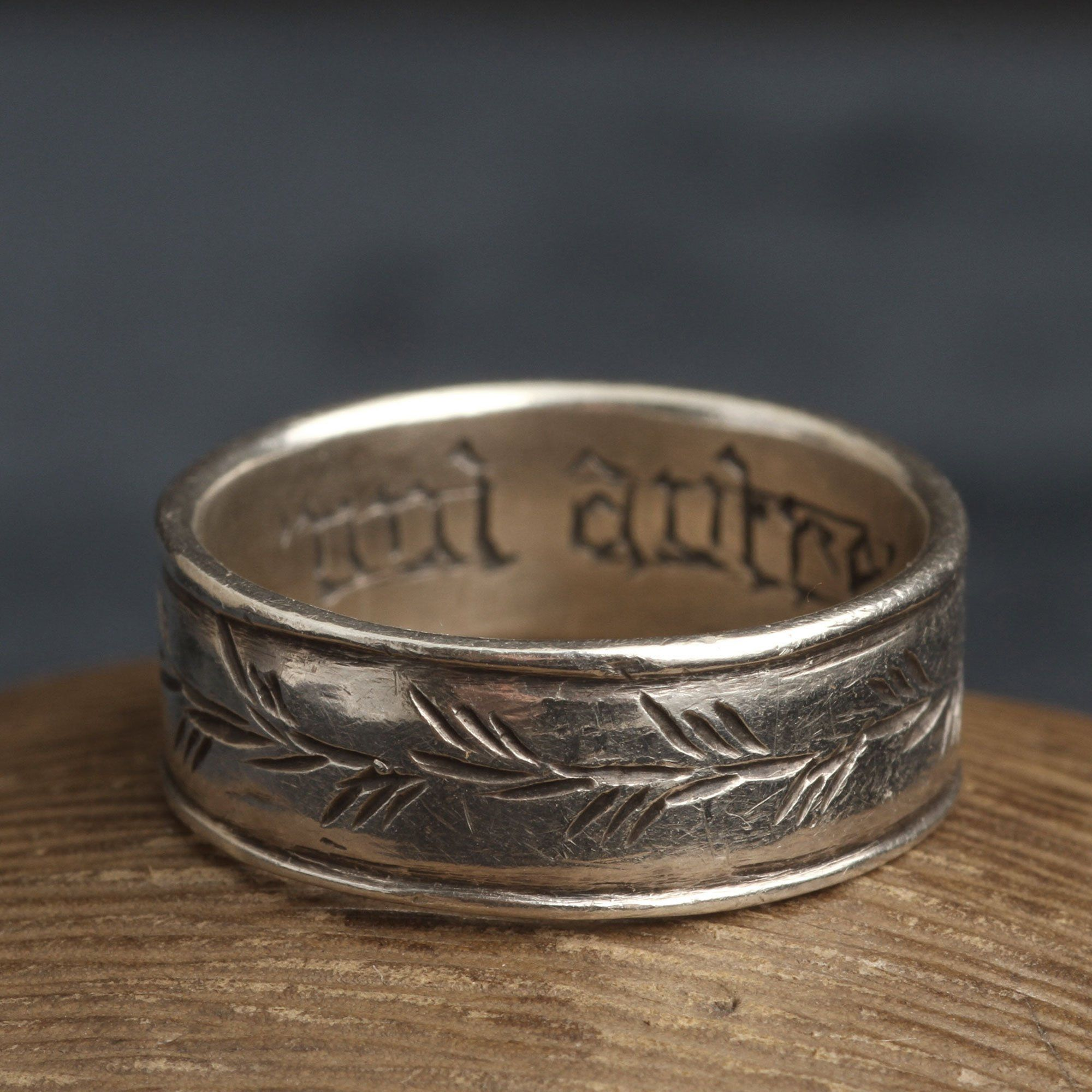 """""""Nul Autre"""" Silver Poesy Ring"""