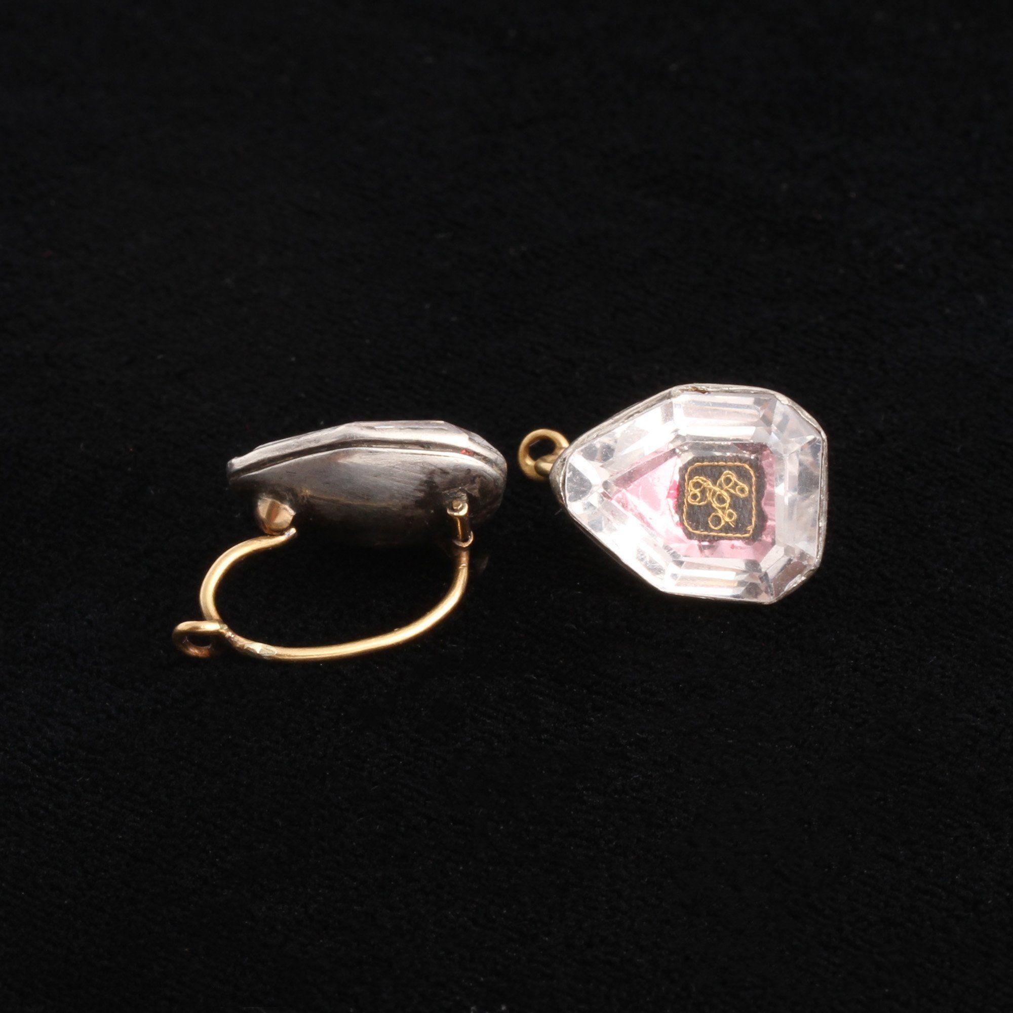 Stuart Crystal Septagon Earrings