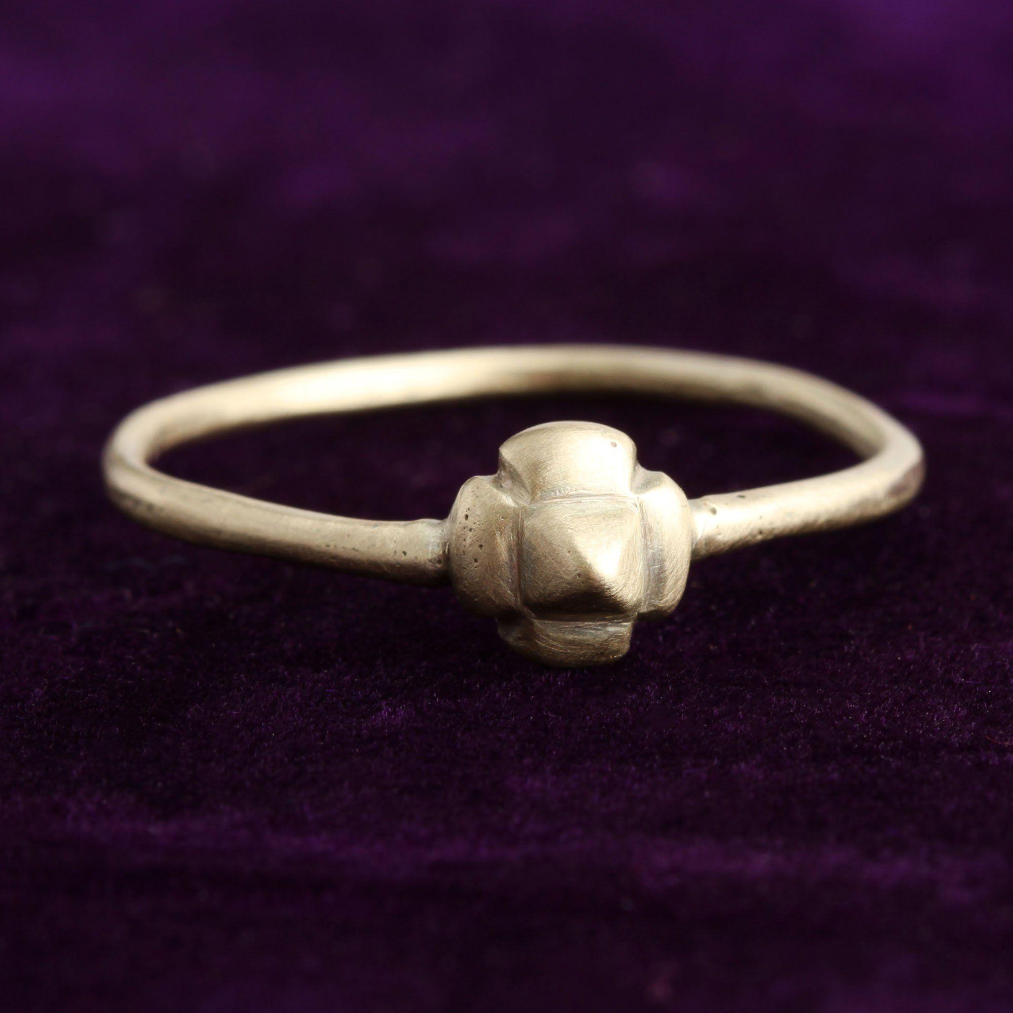 Late Medieval Quatrefoil Electrum Ring