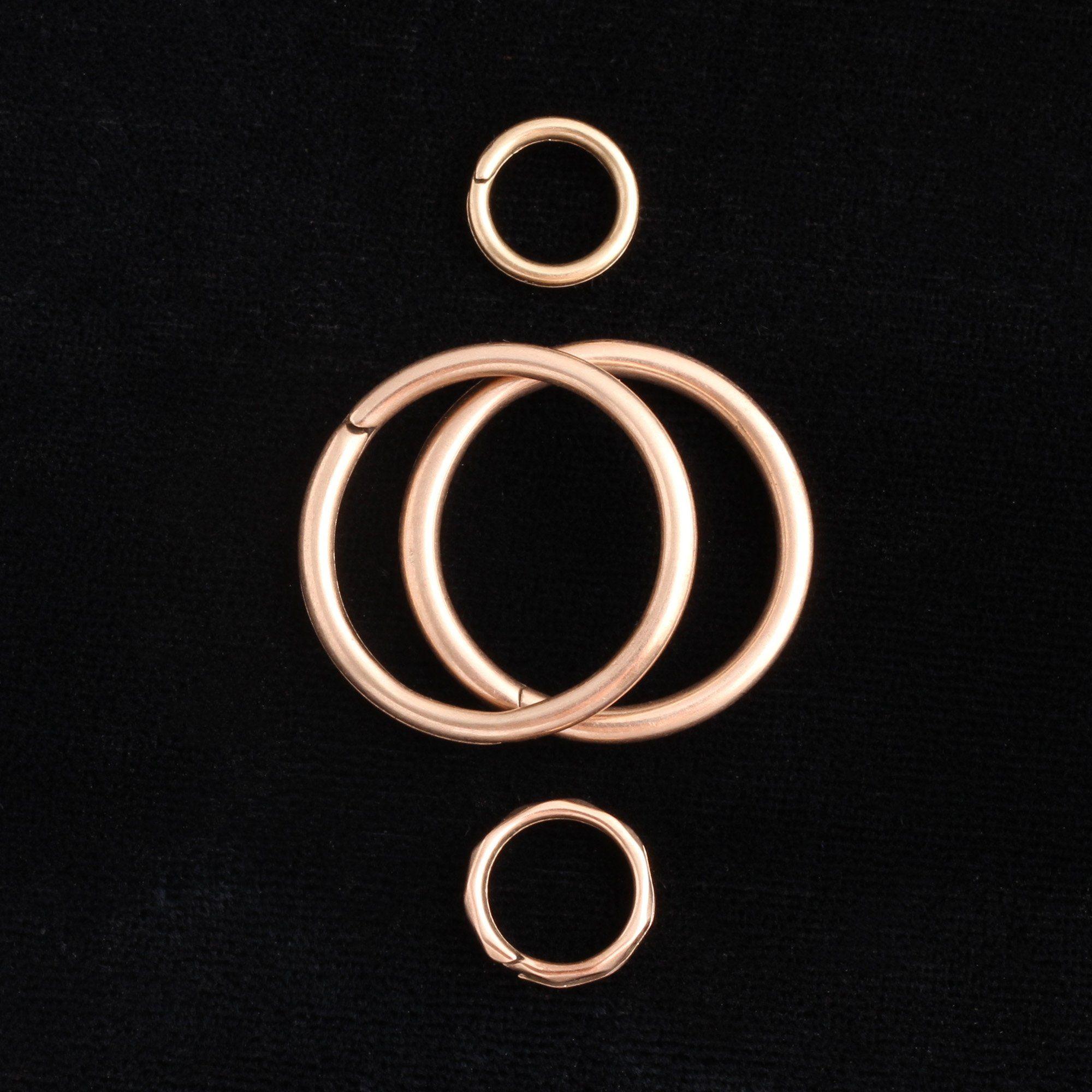 Victorian Rose Gold Split Rings