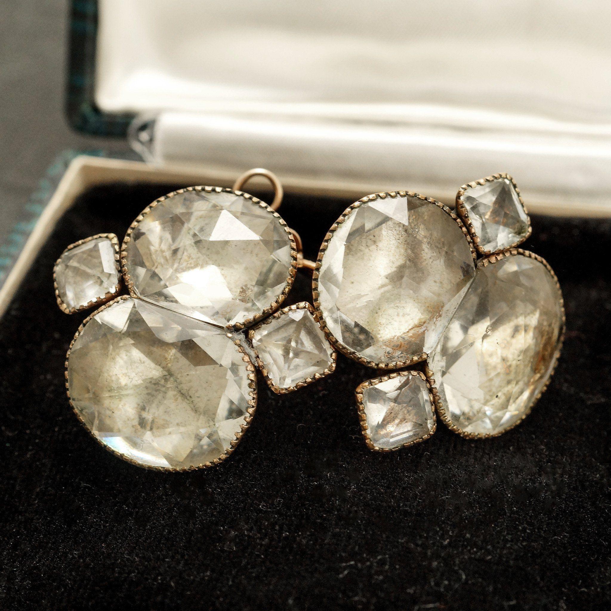Queen Anne Paste Earrings