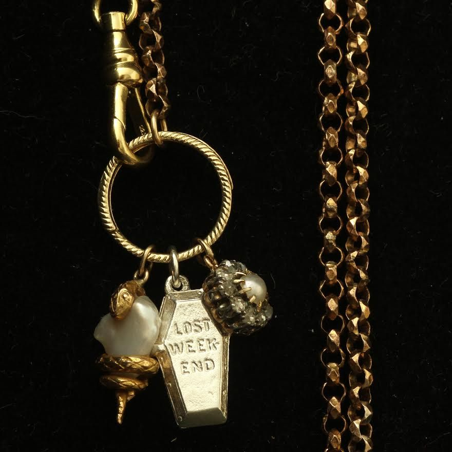 Charm Base Necklace w/ Vintage Chain