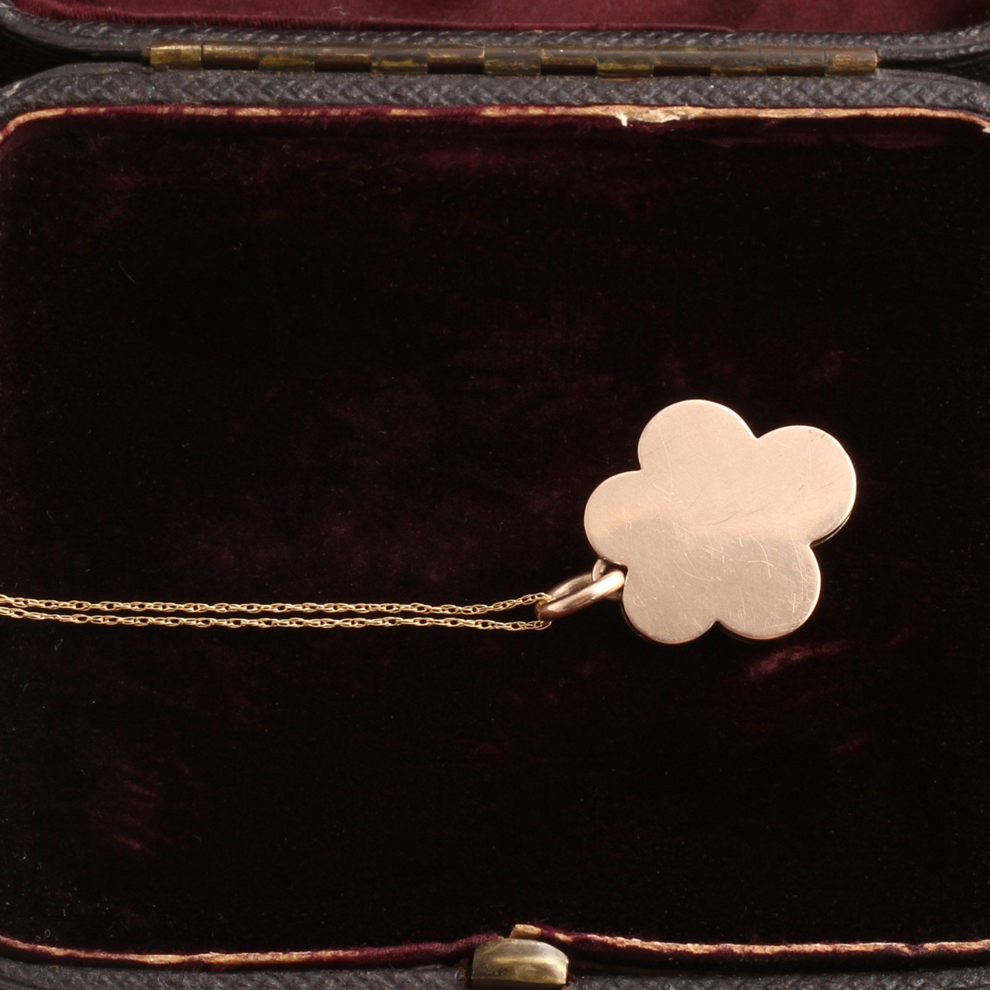 Victorian Enamel, Diamond & Pearl Pansy Pendant