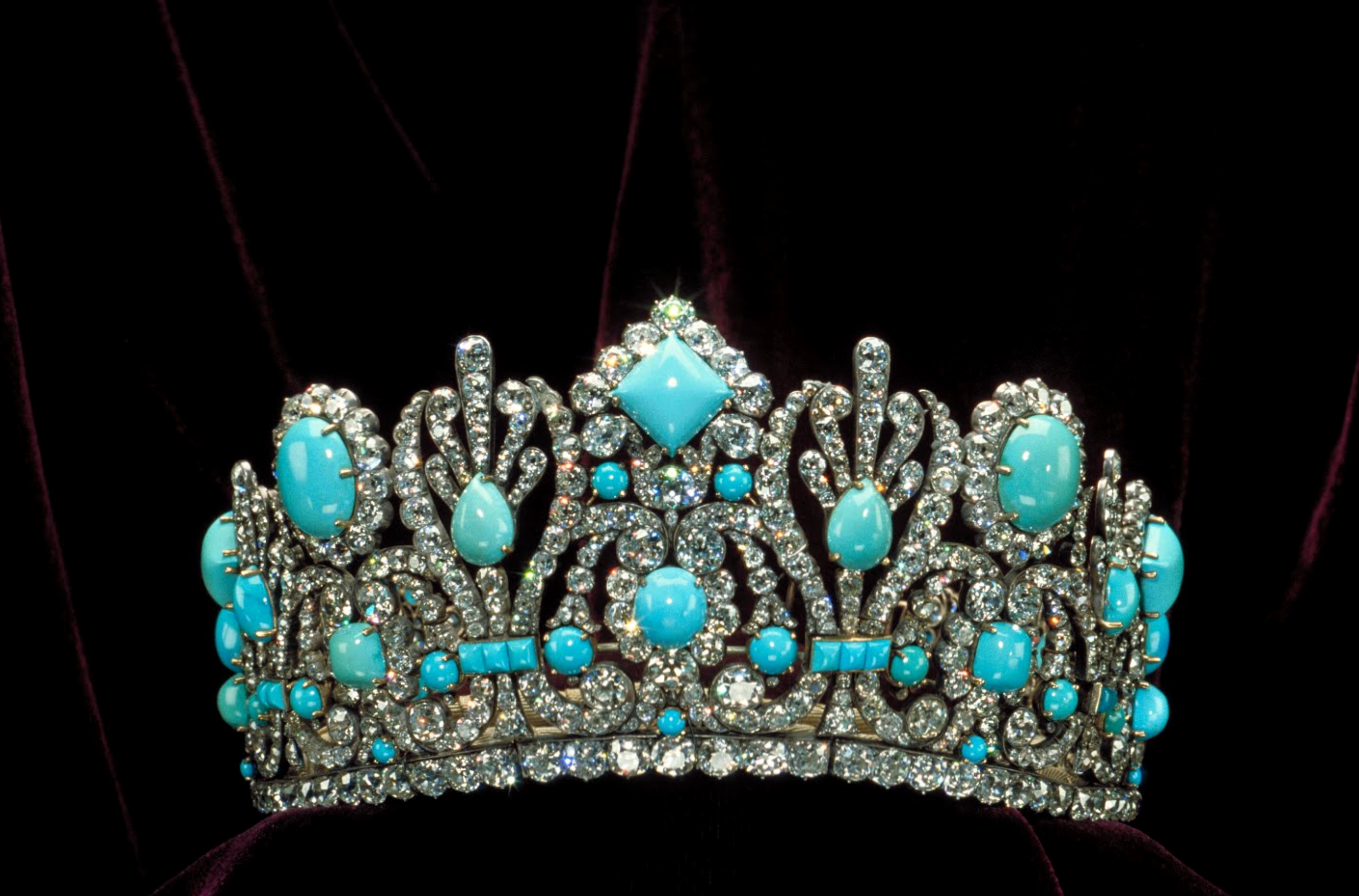 Diadem of Marie-Louise with Persian turquoise