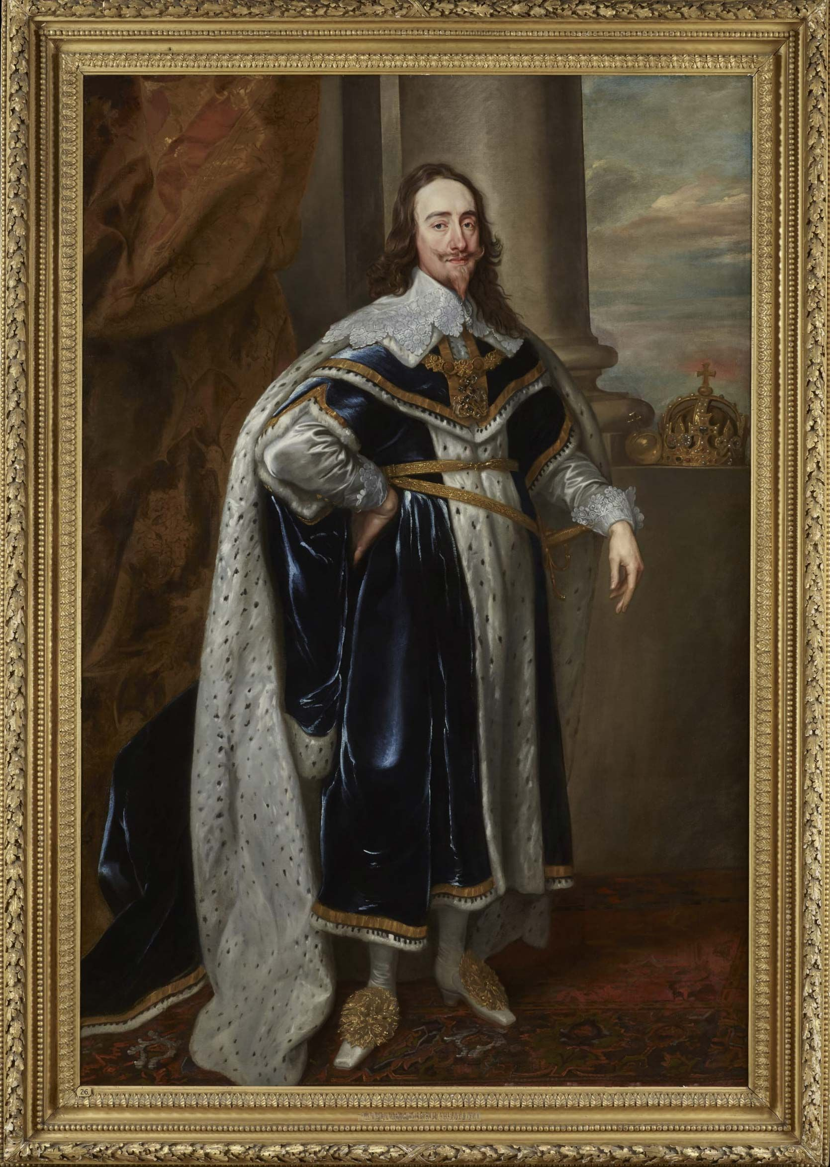Portrait of King Charles I in his Robes of State by Van Dyck, 1636.