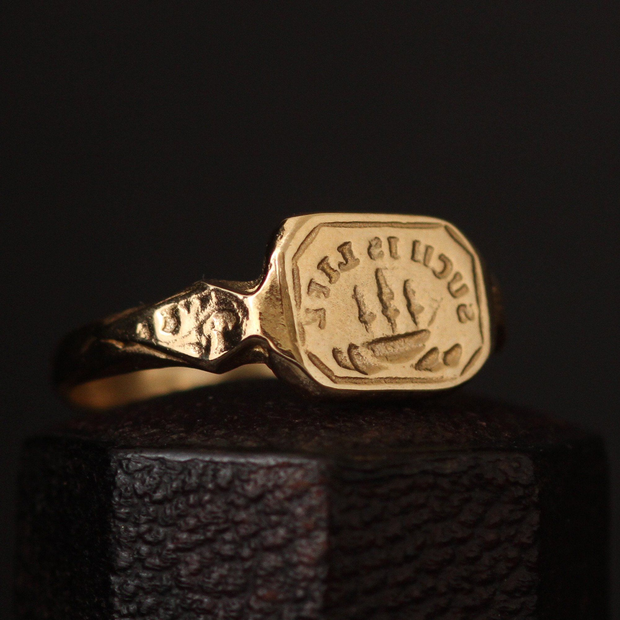 """""""Such Is Life"""" Wax Seal Ring"""