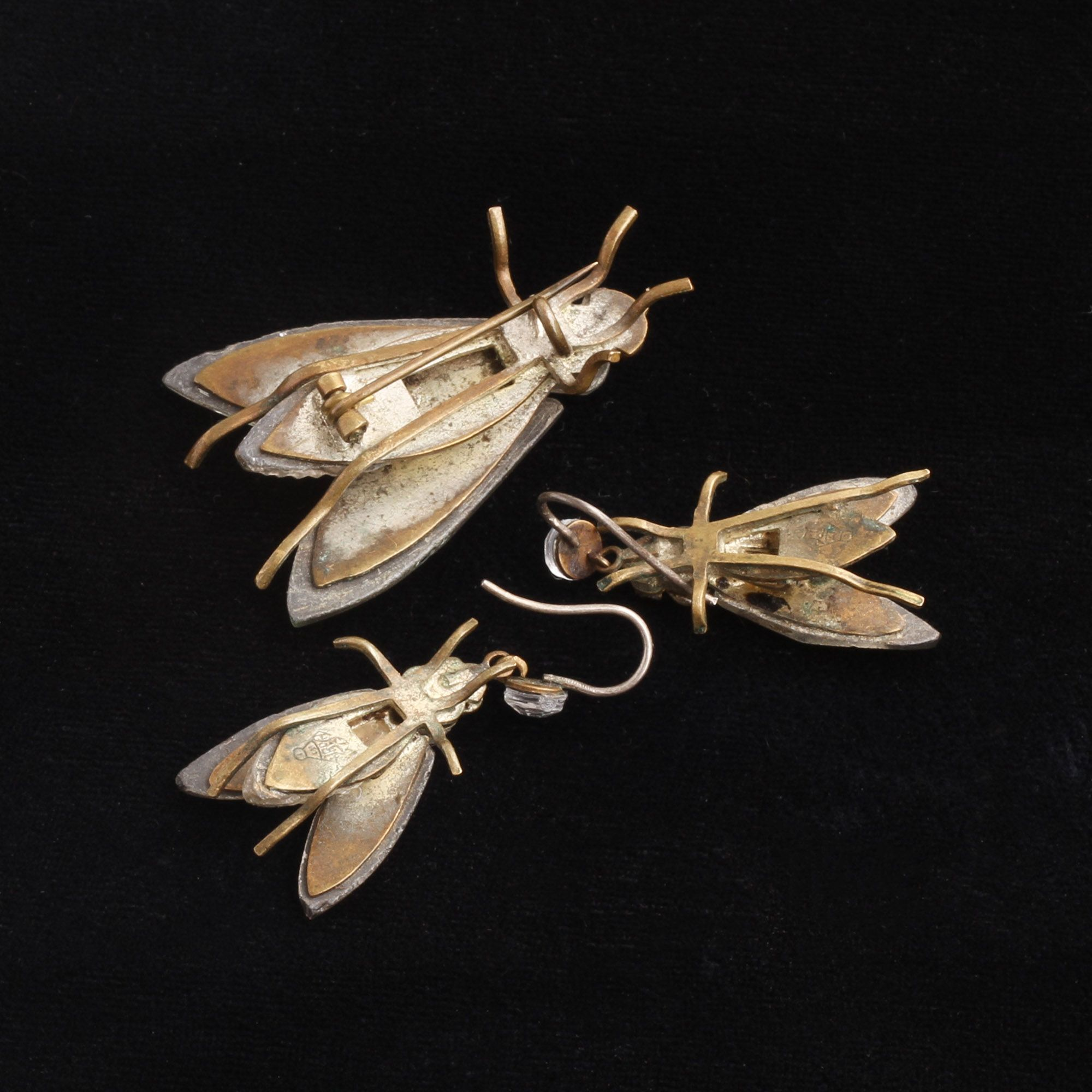 Victorian Vauxhall Glass Fly Set