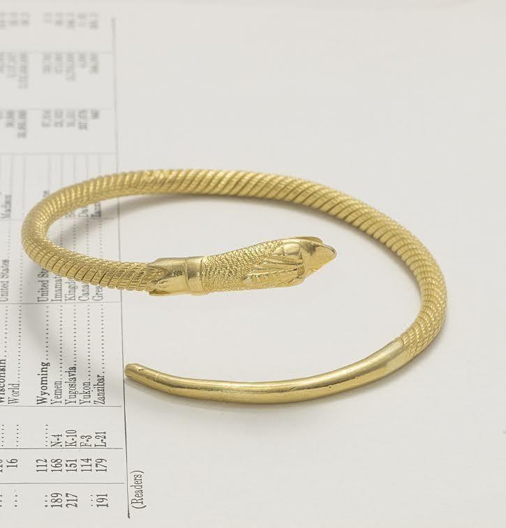 Egyptian Revival Cleopatra Serpent Bangle