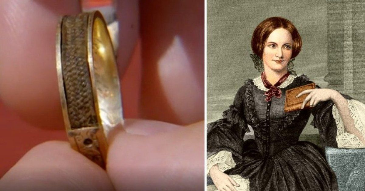 A ring set with Charlotte Bronte's hair was recently identified on Antiques Roadshow.