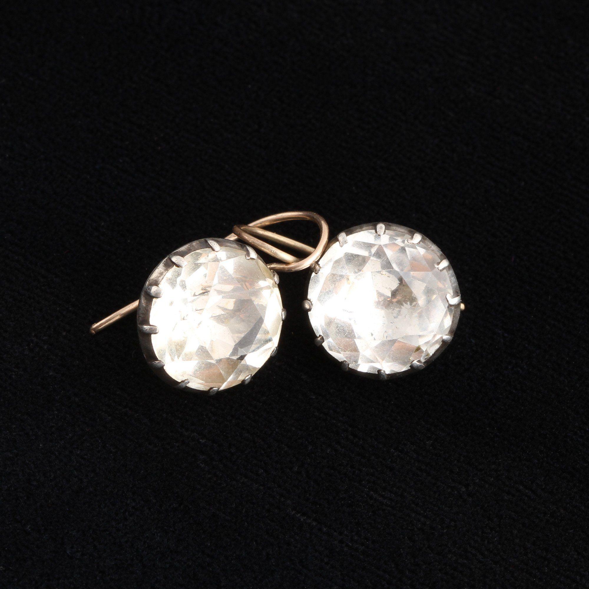 Georgian Rock Crystal Earrings
