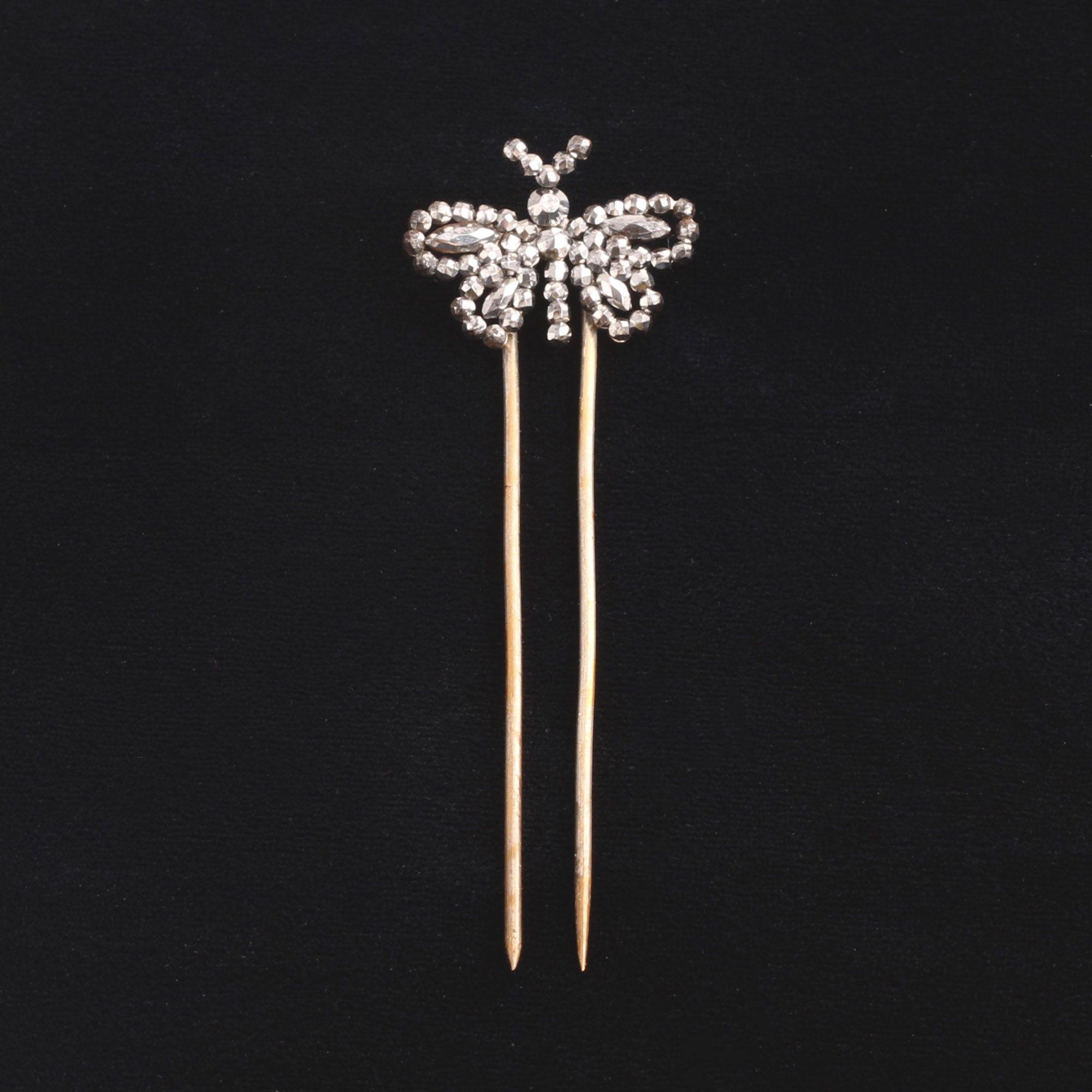 Georgian Cut Steel Butterfly Hair Pin