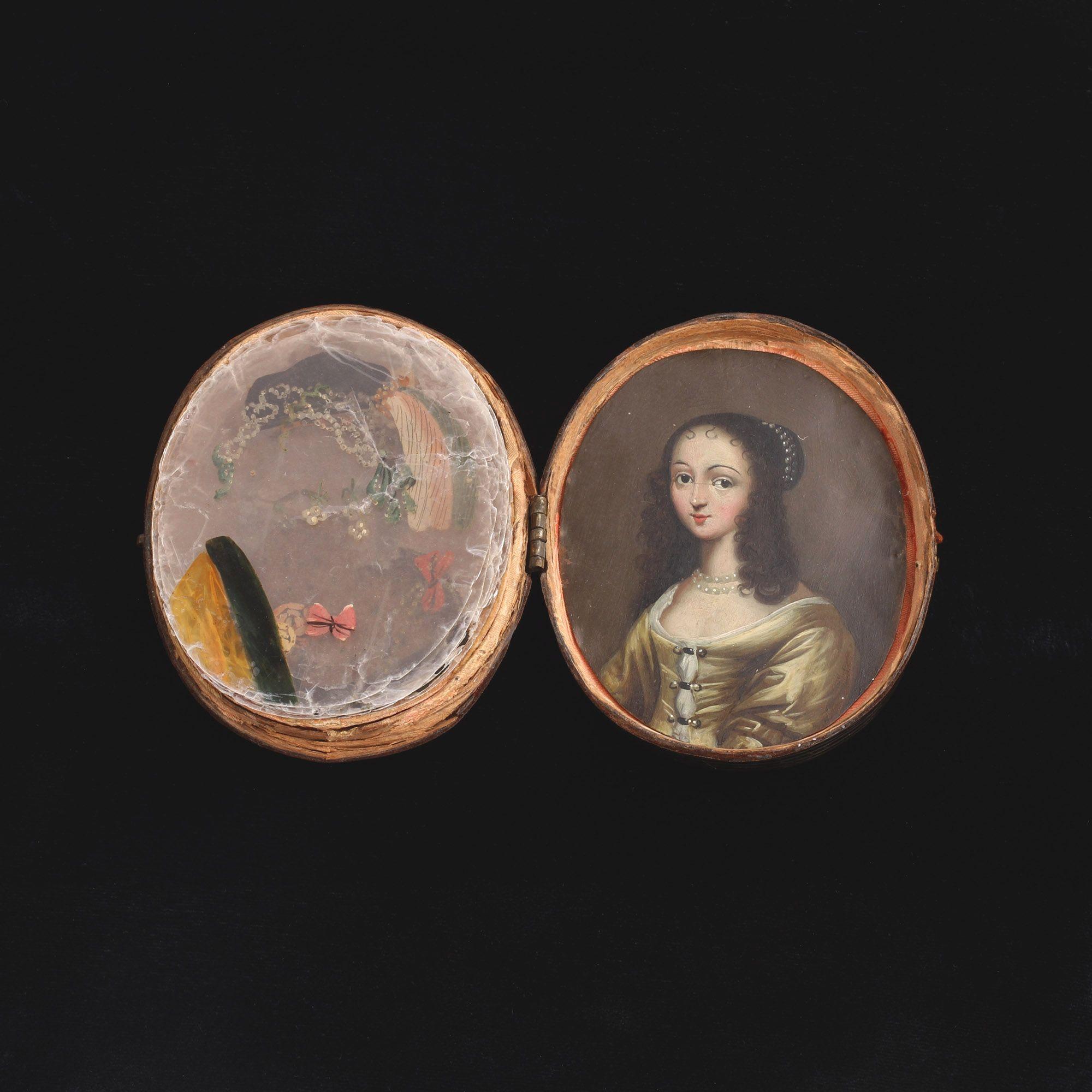 Stuart Portrait Miniature with Painted Mica Lenses