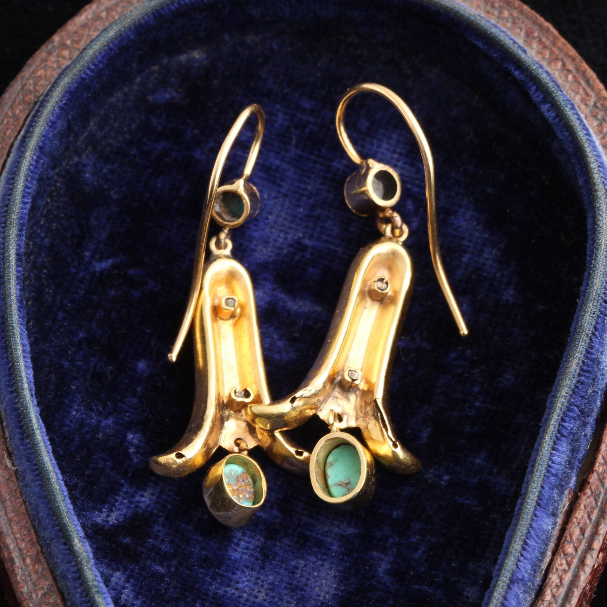 Victorian Turquoise Bluebell Earrings