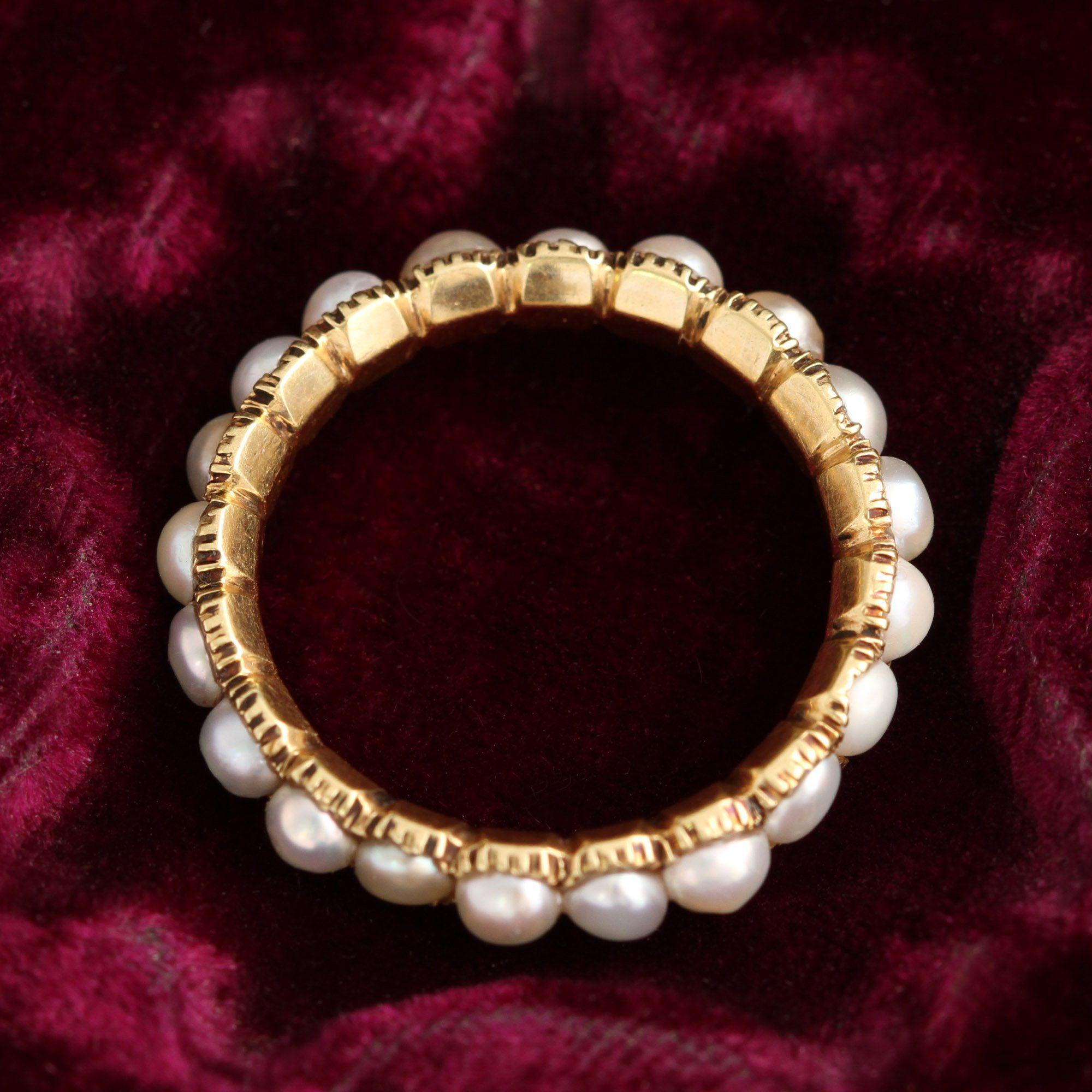 Georgian Pearl Eternity Ring