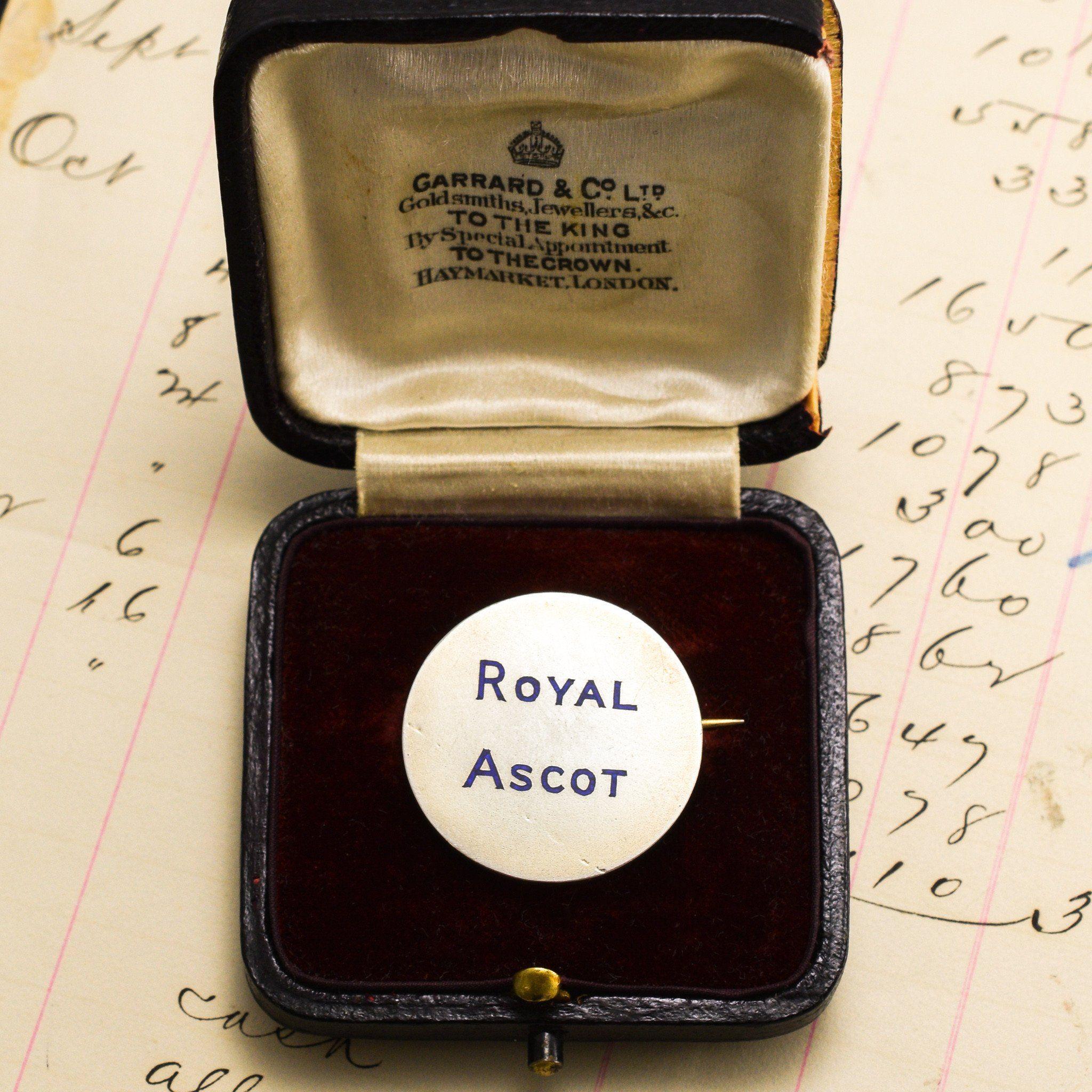 Silver and Enamel Royal Ascot Badge in Original Box