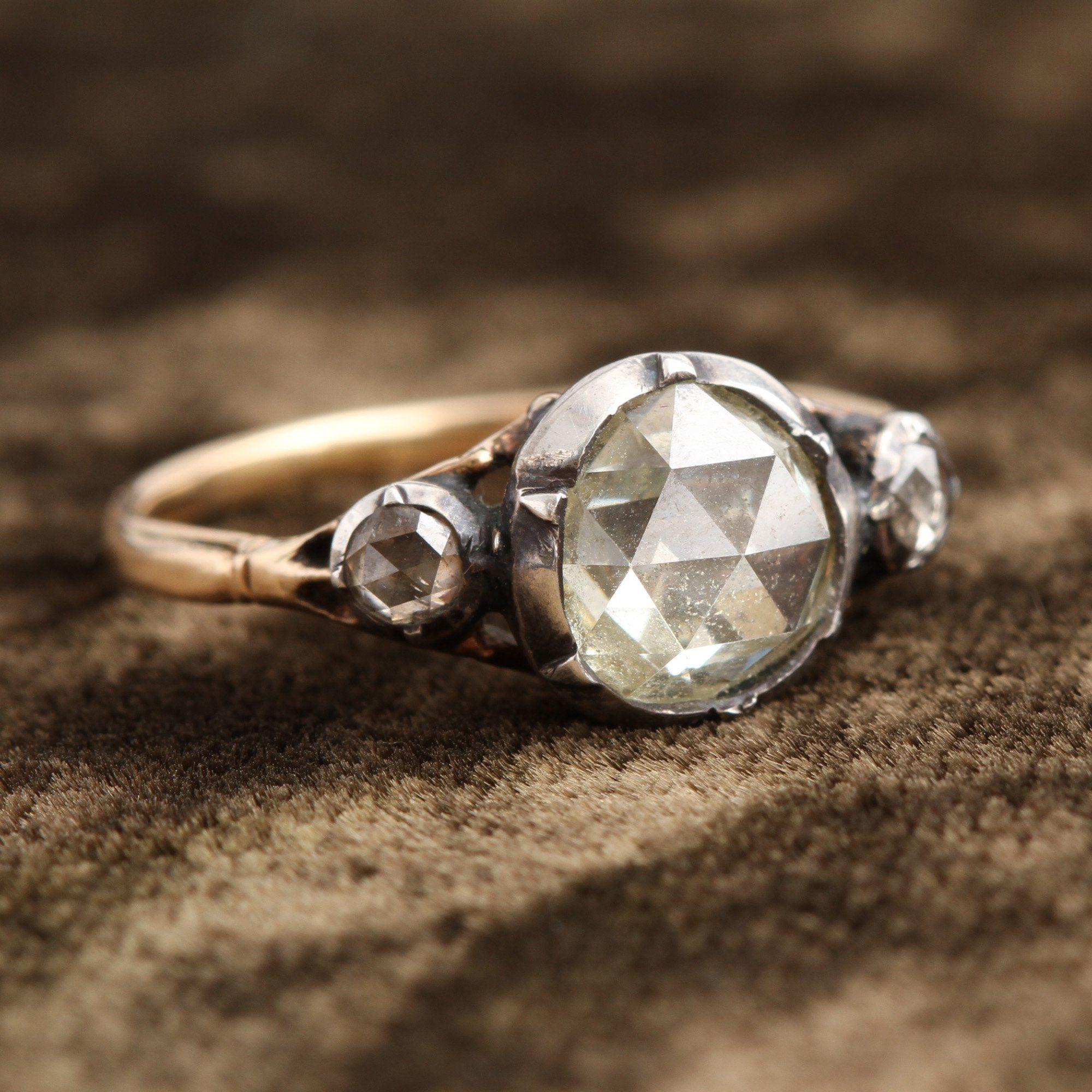 Georgian Rose Cut Diamond Engagement Ring