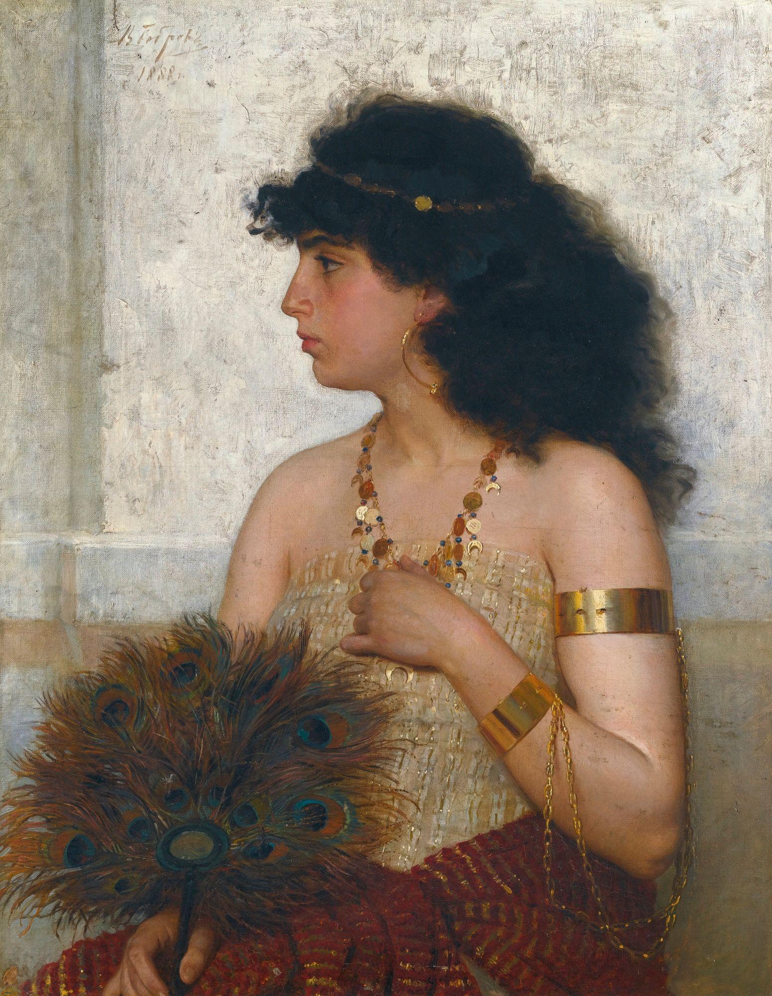 "Detail: Viktor Bobrov, ""Esther,"" 1888."