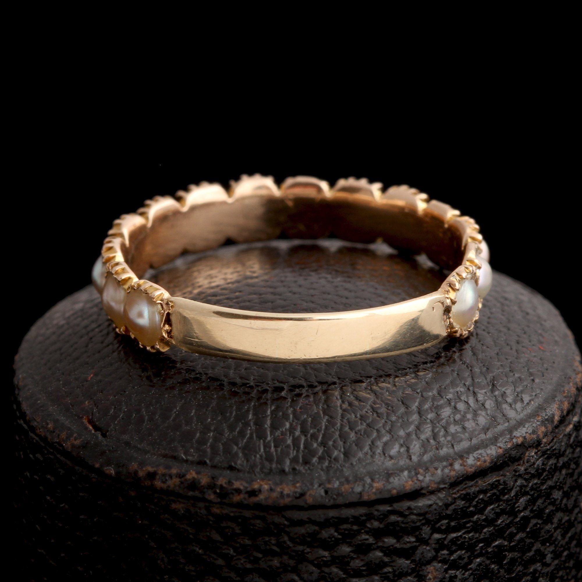 Georgian Nearly Eternity Pearl Ring
