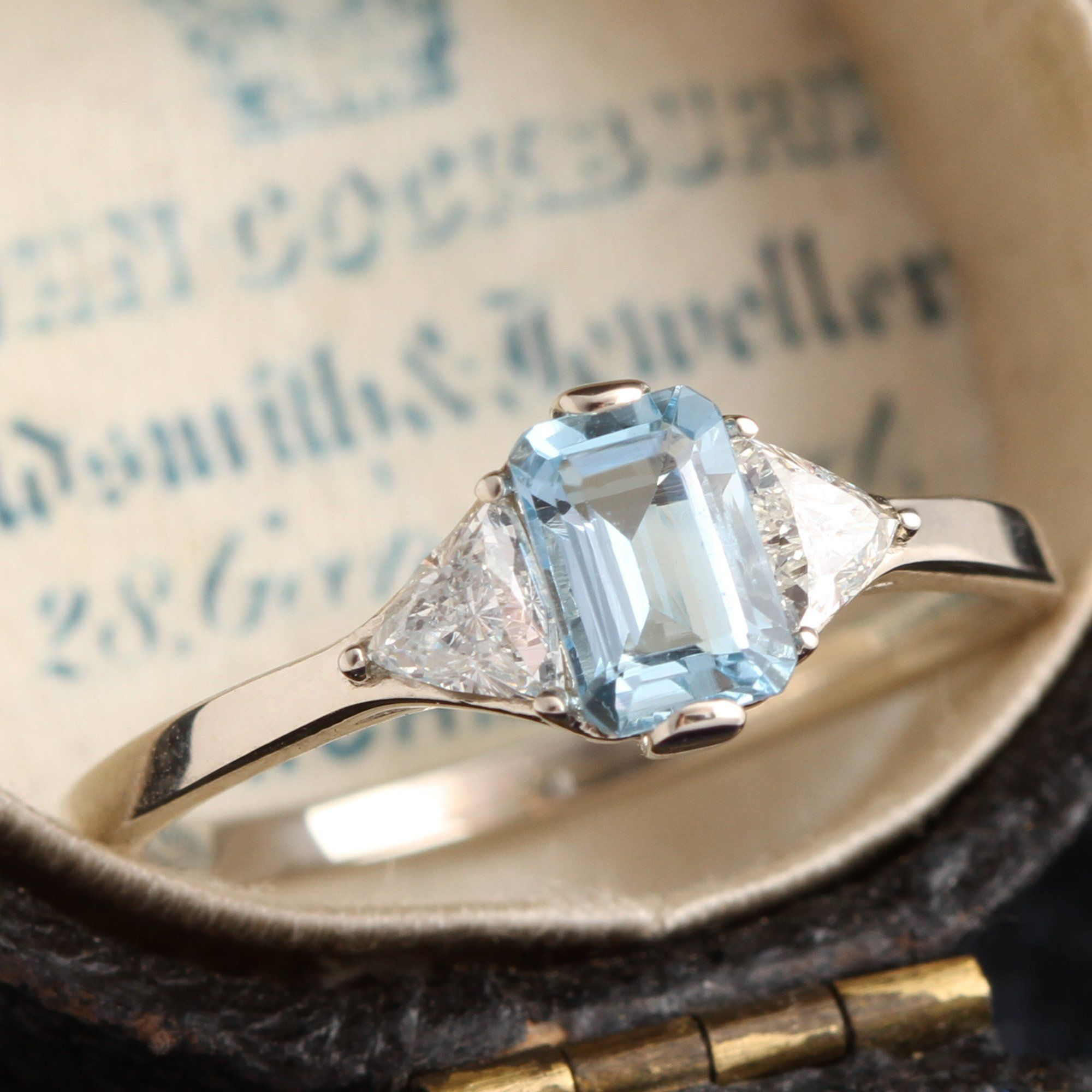Poseidon Aquamarine and Diamond Ring