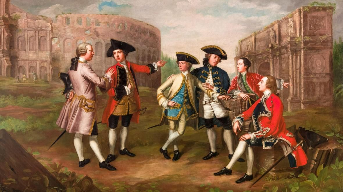 British Gentlemen (most likely hung over) in Rome by Katharine Read, c.1750