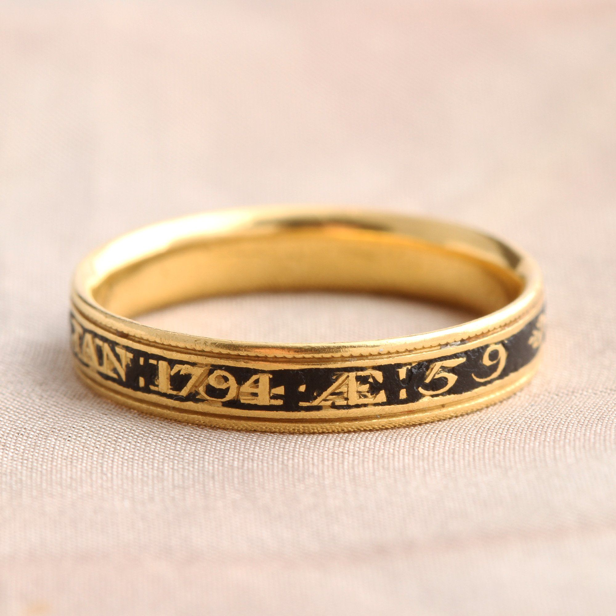 Late 18th Century Mourning Ring for Thomas Searle
