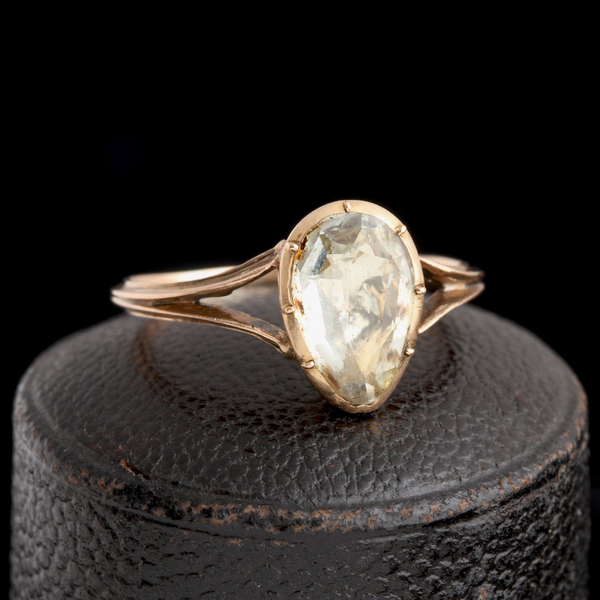 Georgian Aquamarine Heart Ring