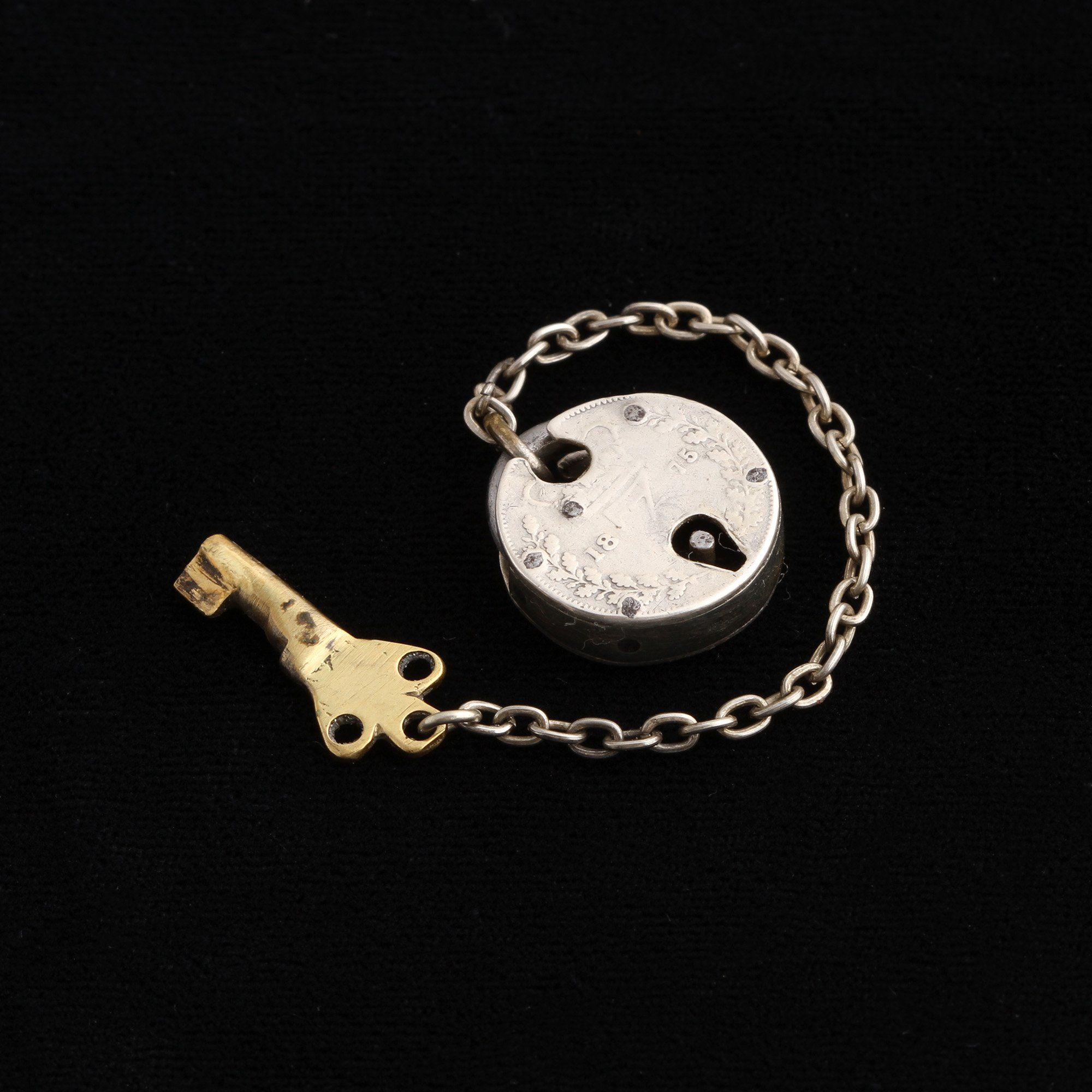Victorian Coin Padlock with Key