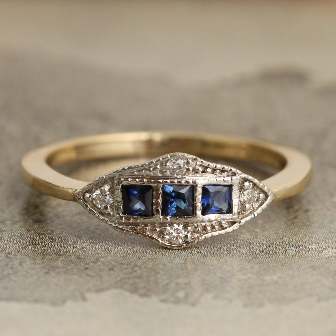 Machine Age Ring (Sapphire)