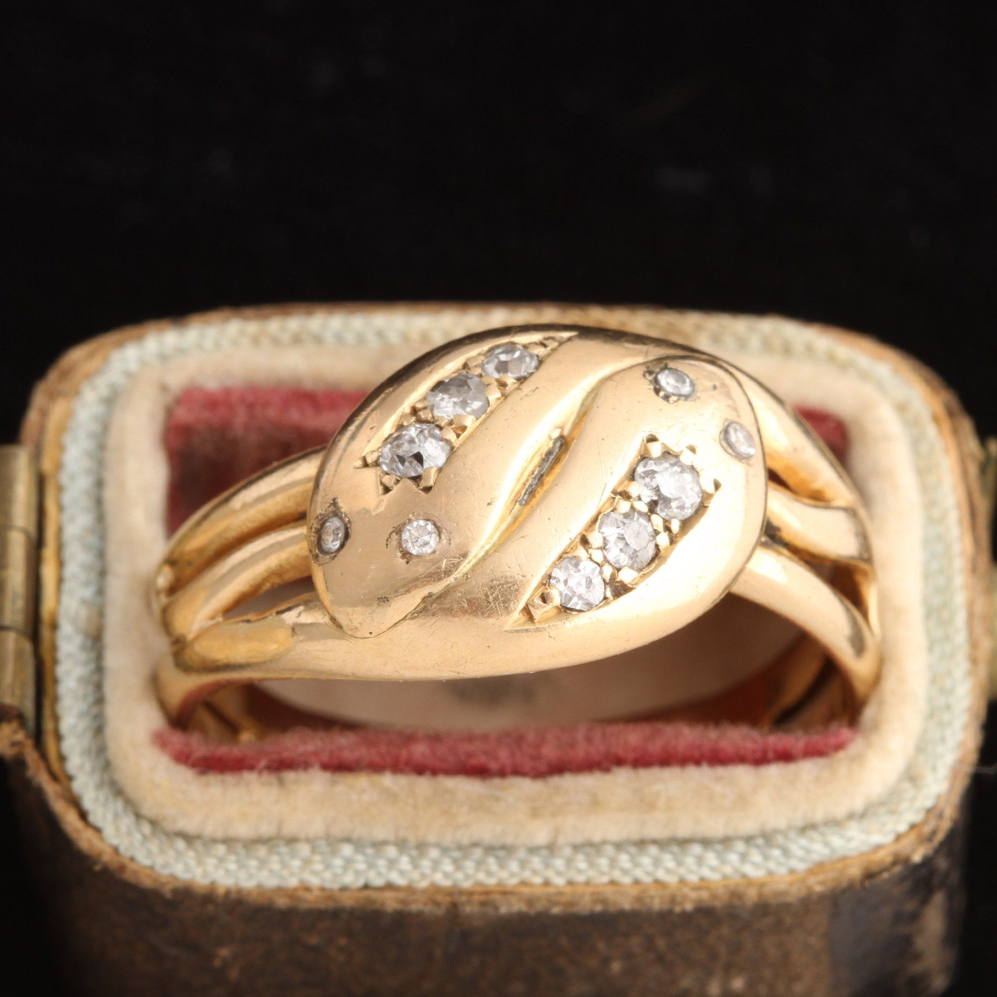 Victorian Entwined Snakes Diamond Ring