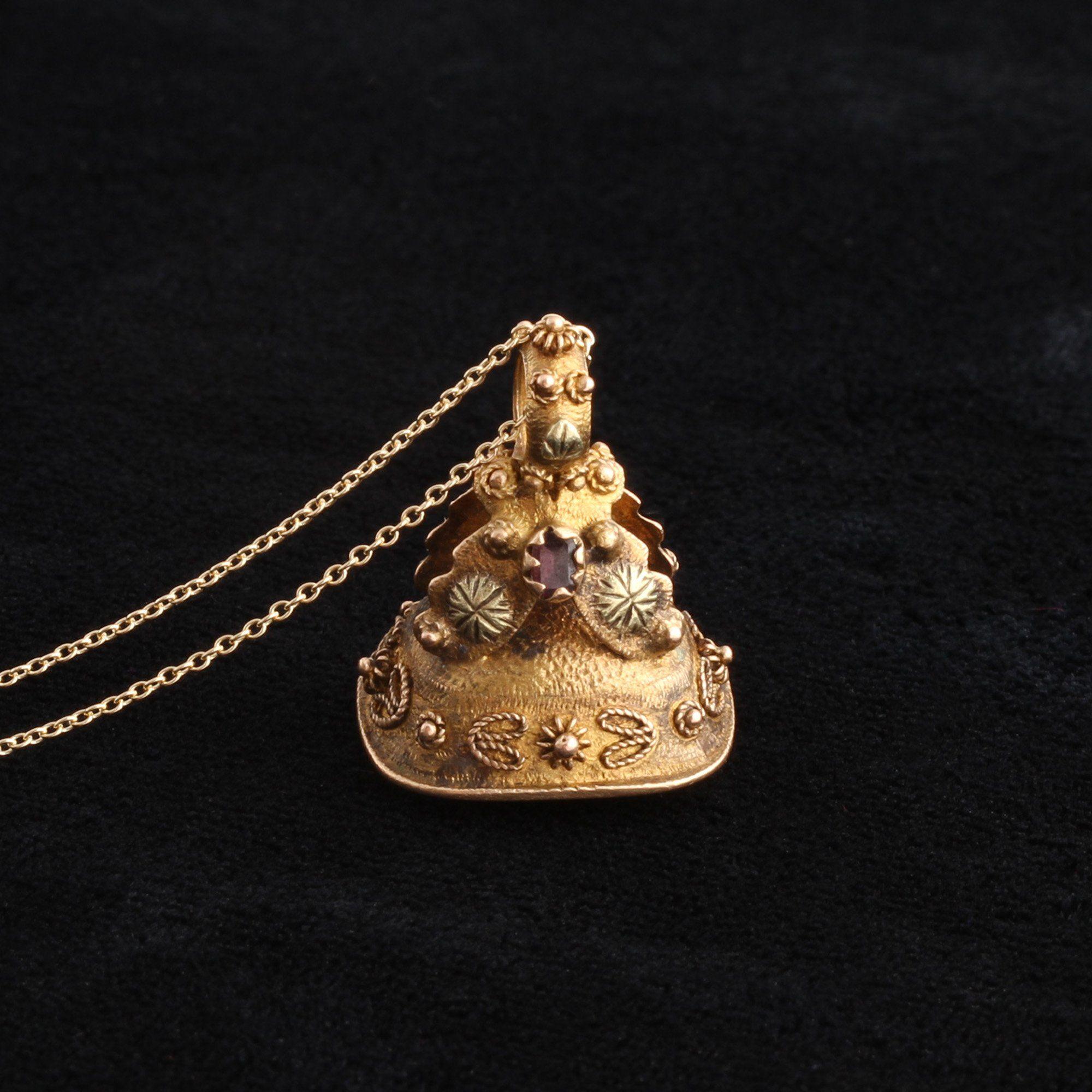 Georgian Amethyst Fob Necklace